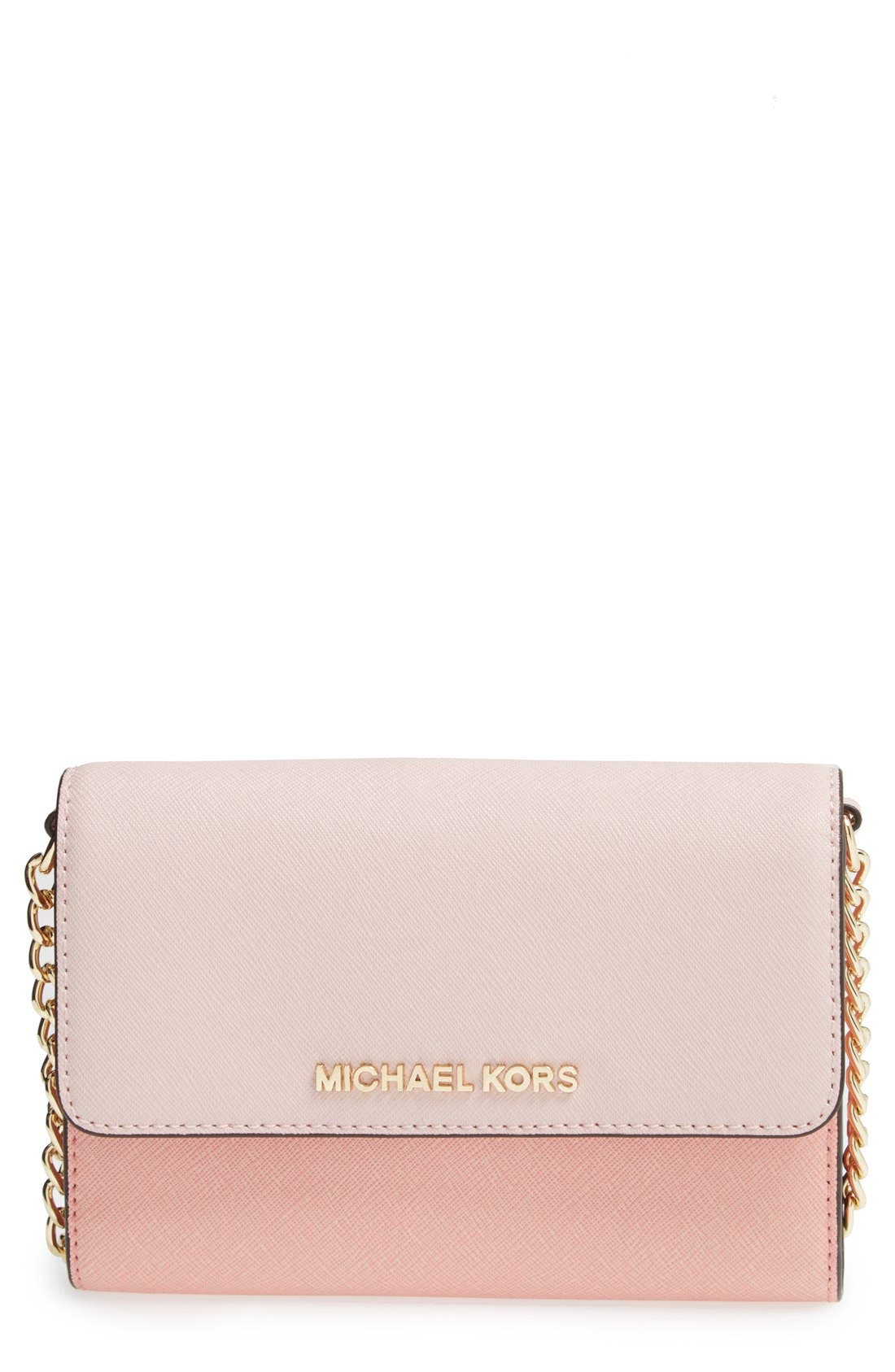 Main Image - MICHAEL Michael Kors 'Jet Set Travel' Saffiano Leather Crossbody Bag