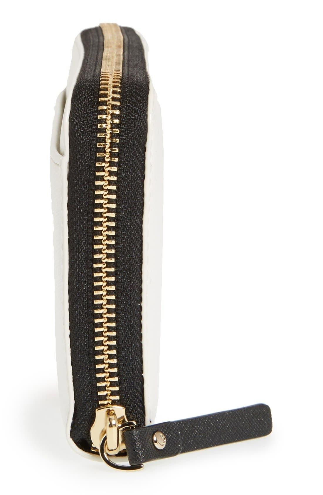 Alternate Image 4  - kate spade new york 'wing it - lacey' zip around wallet