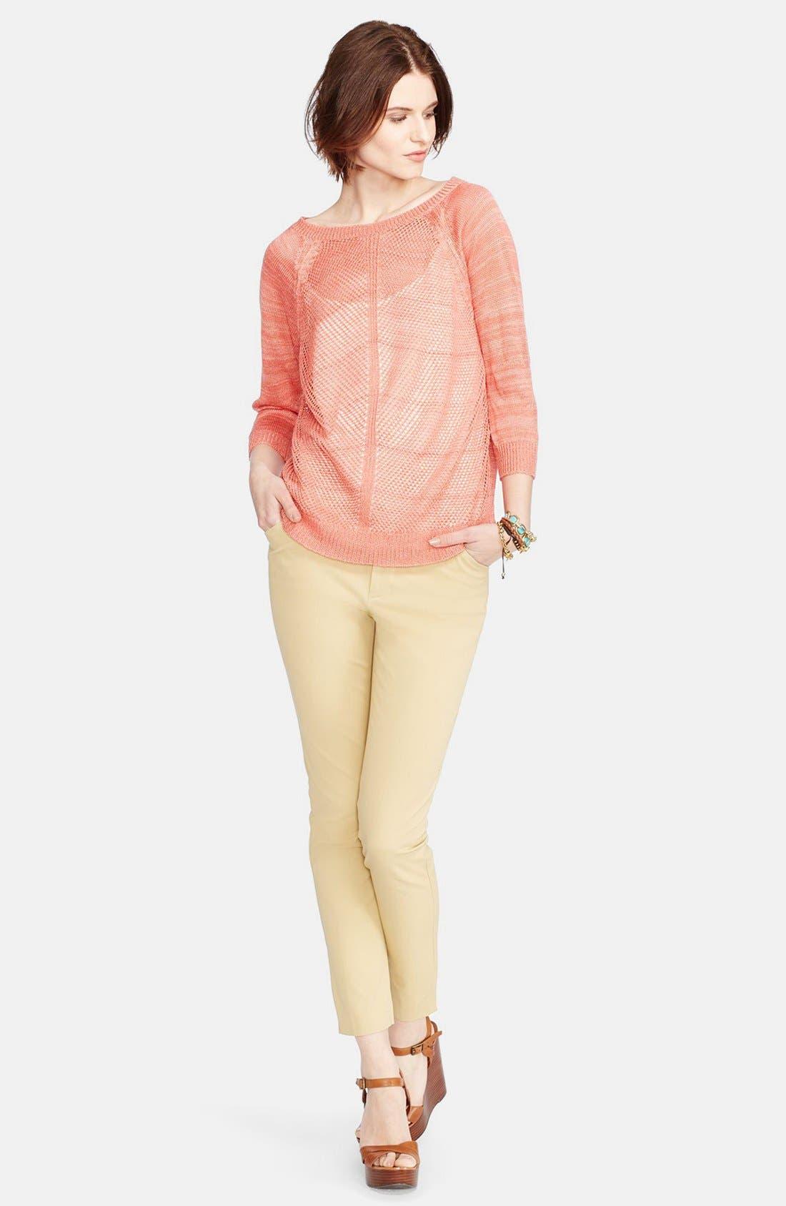 Alternate Image 3  - Lauren Ralph Lauren Stretch Cotton Skinny Pants (Regular & Petite)