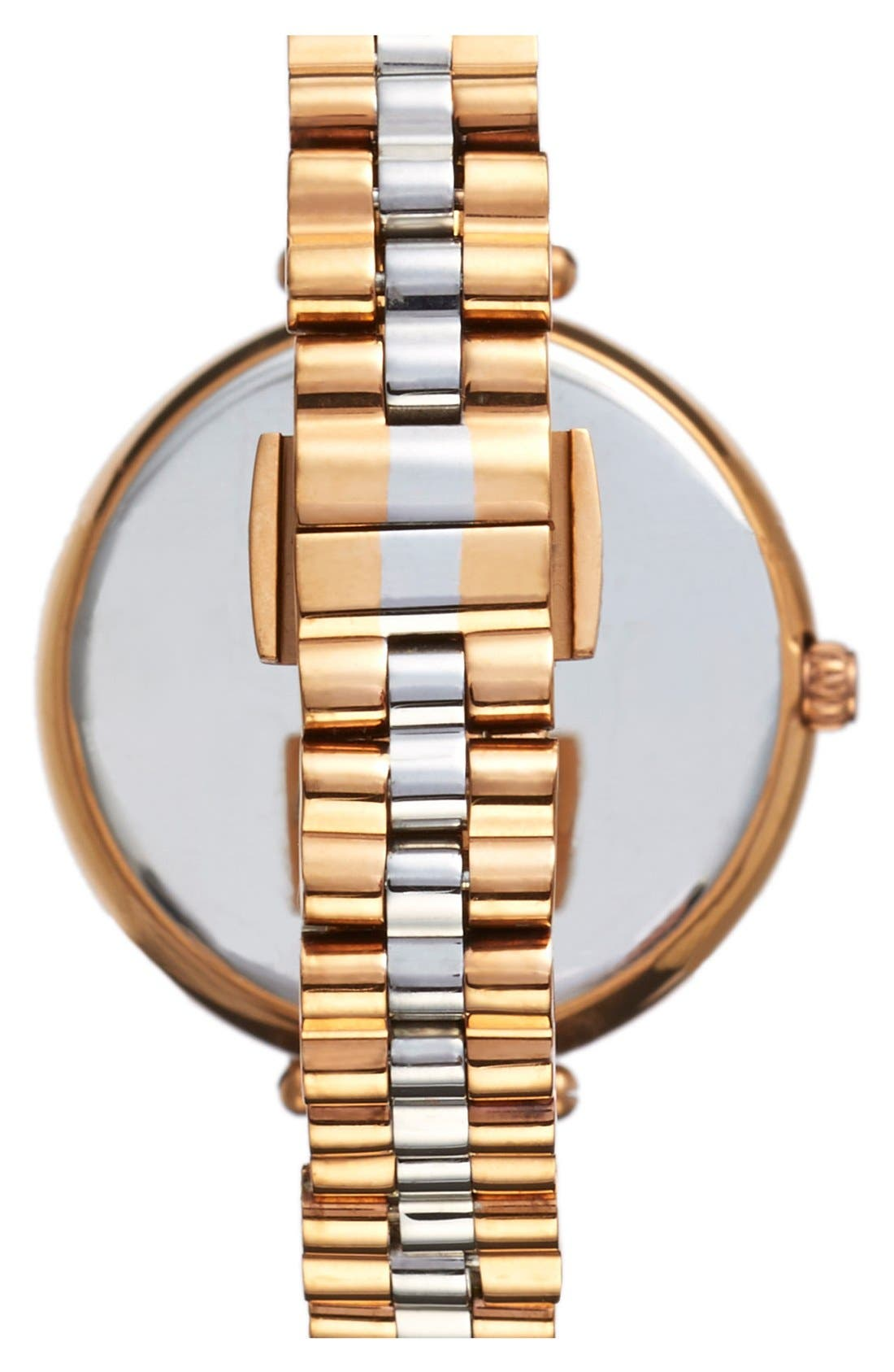holland bracelet watch, 34mm,                             Alternate thumbnail 2, color,                             Rose Gold/ Silver