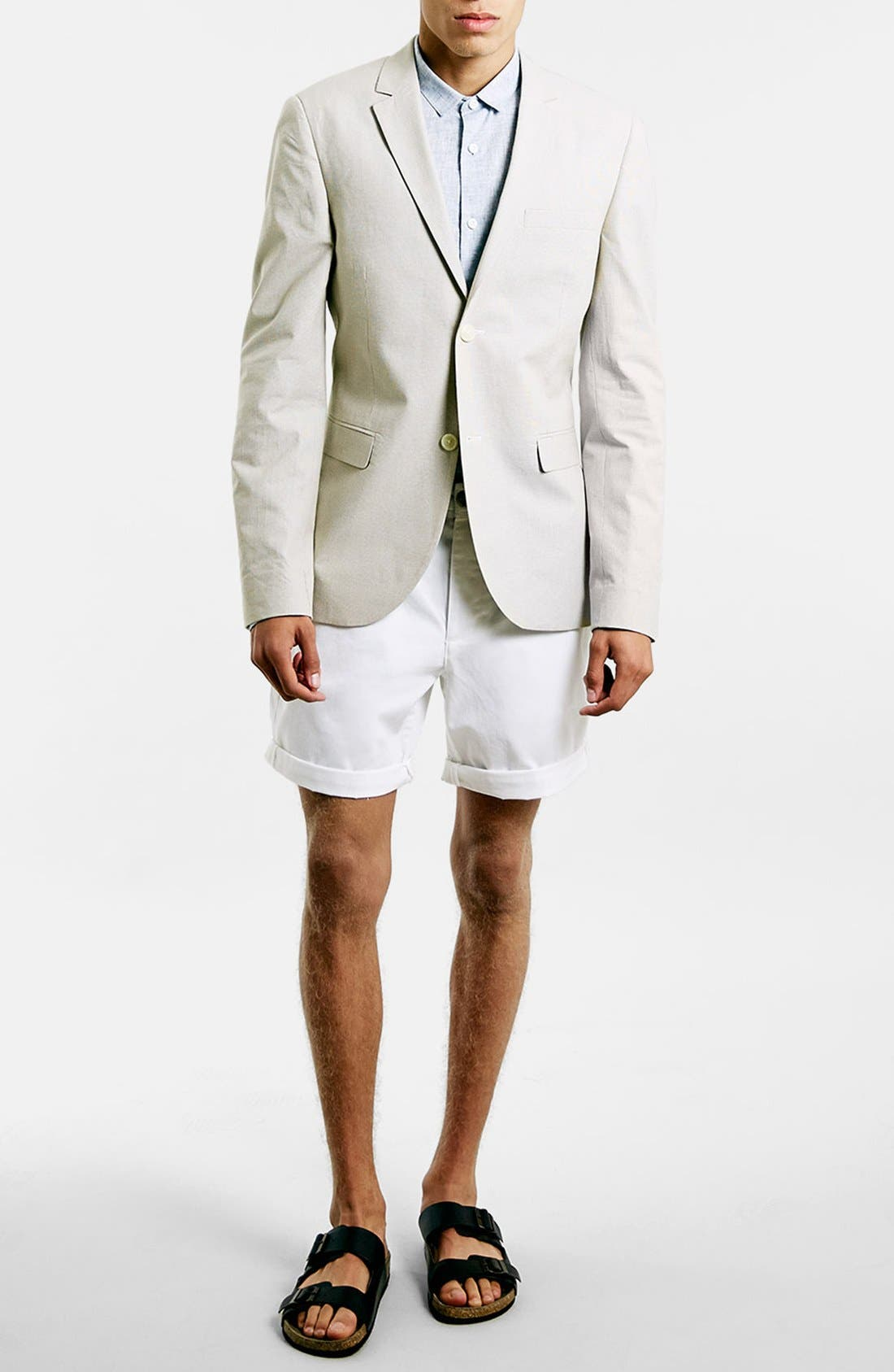 Alternate Image 4  - Topman Chino Shorts
