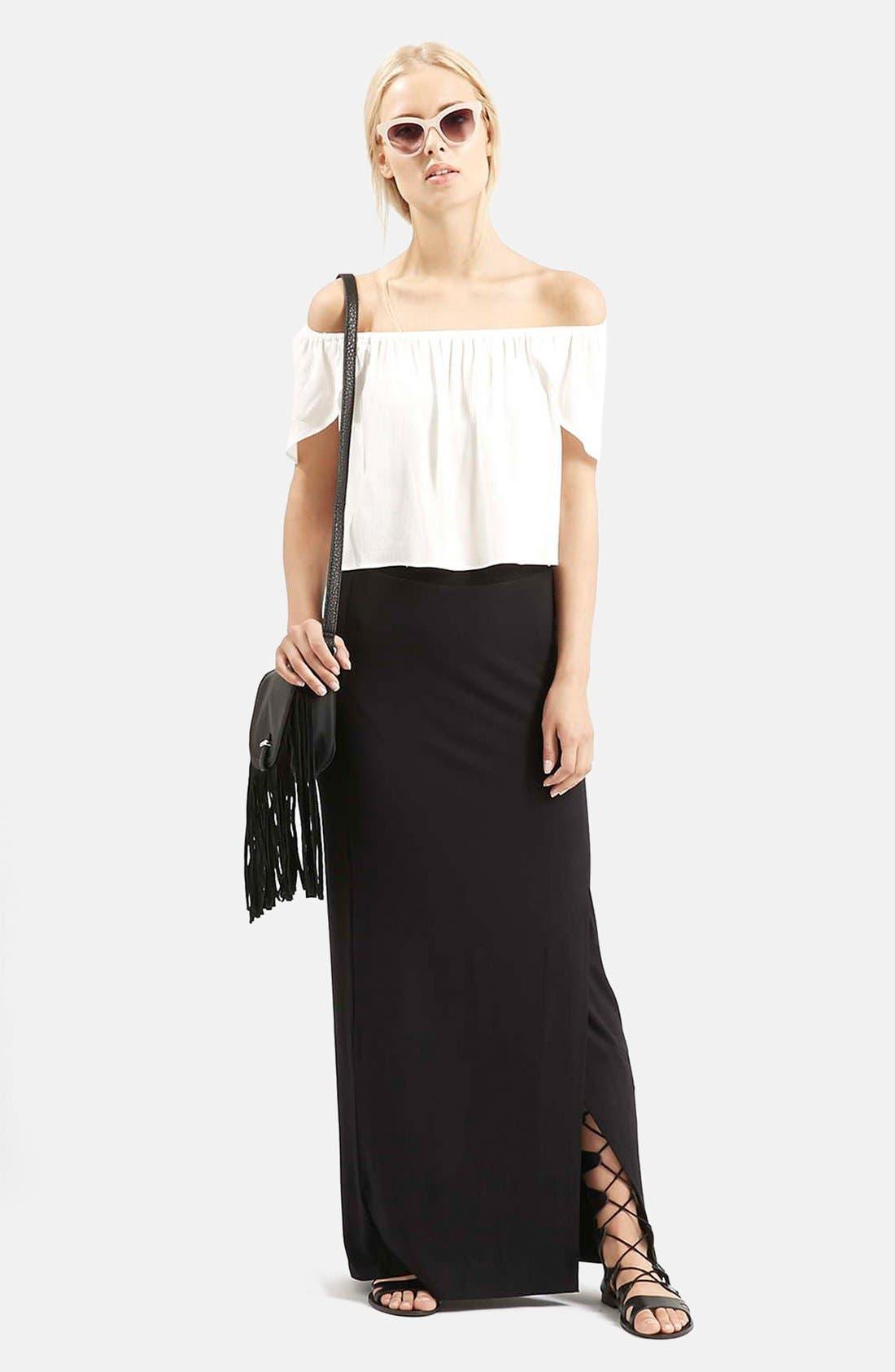 Alternate Image 5  - Topshop Slit Maxi Skirt
