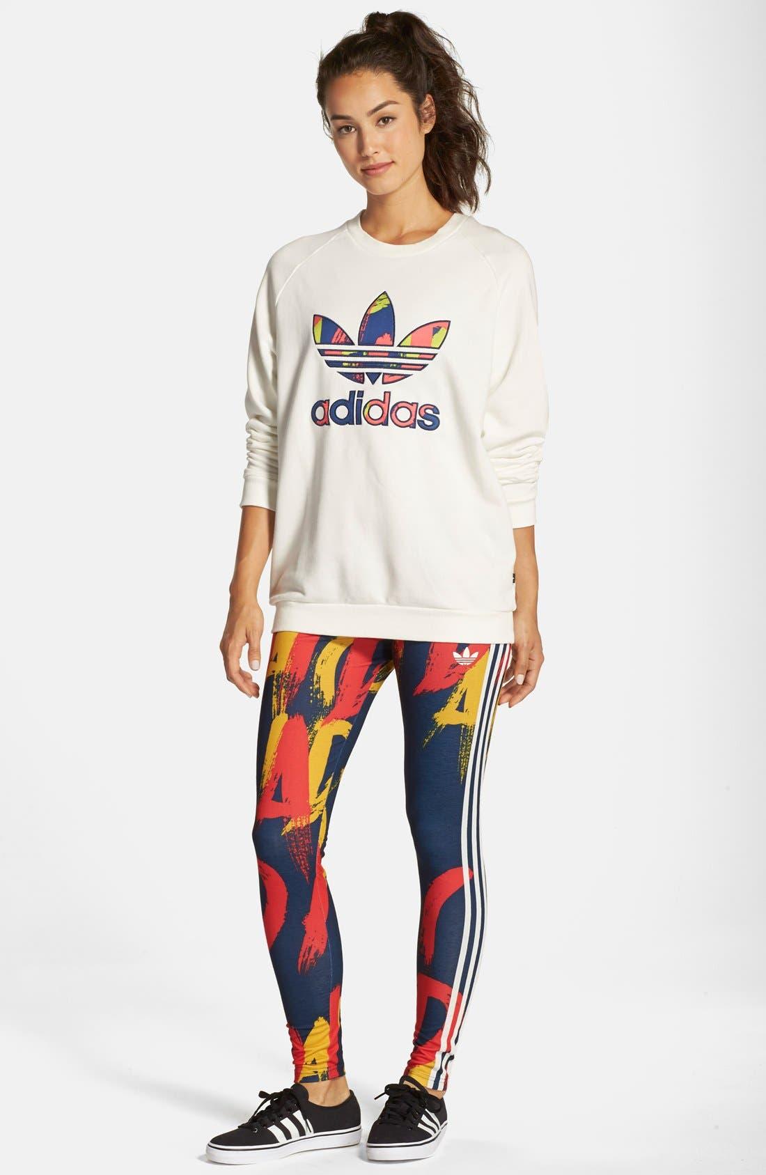 Alternate Image 3  - adidasOriginals 'Paris' Logo Pullover Sweatshirt