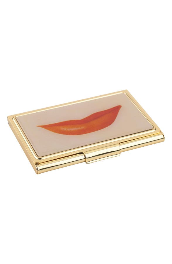 Business card holder new york choice image card design and card kate spade new york lips business card holder nordstrom main image kate spade new york lips colourmoves
