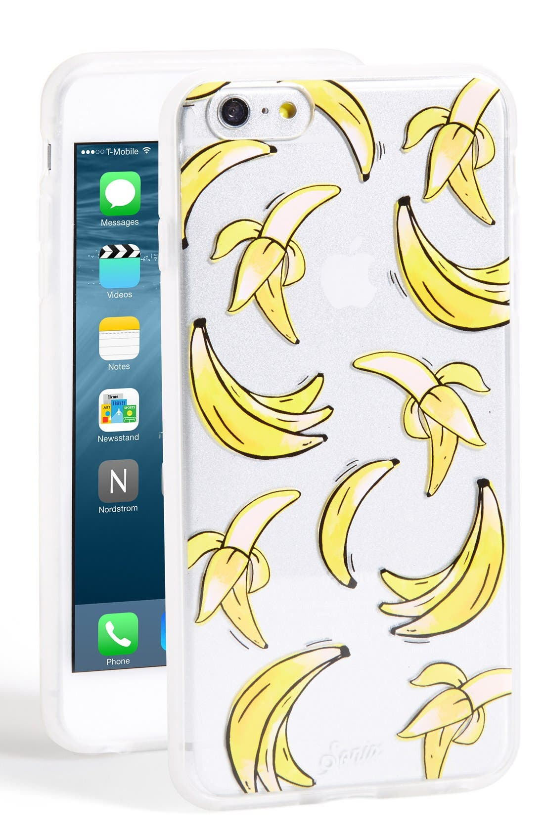 'Clear That's Bananas' iPhone 6 Plus Case,                         Main,                         color, Clear/ Yellow