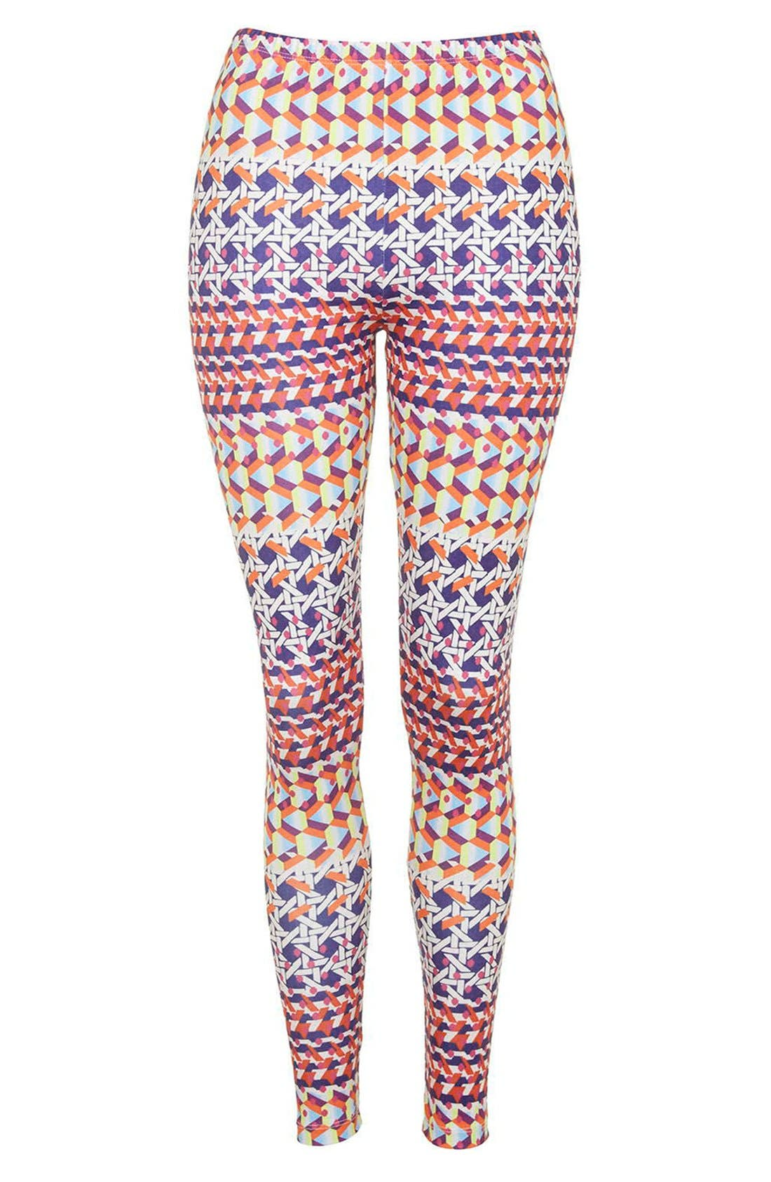 Alternate Image 3  - Topshop Geo Print Leggings