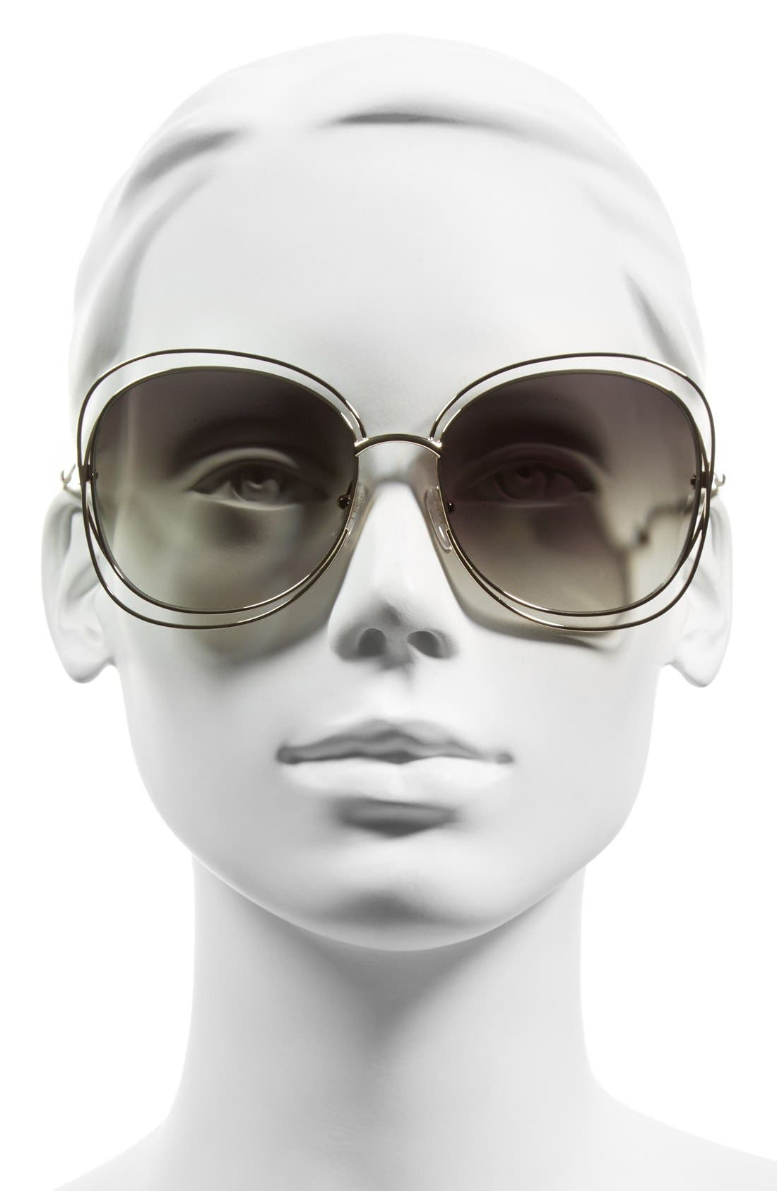 Alternate Image 2  - Chloé Carlina 60mm Gradient Les Sunglasses
