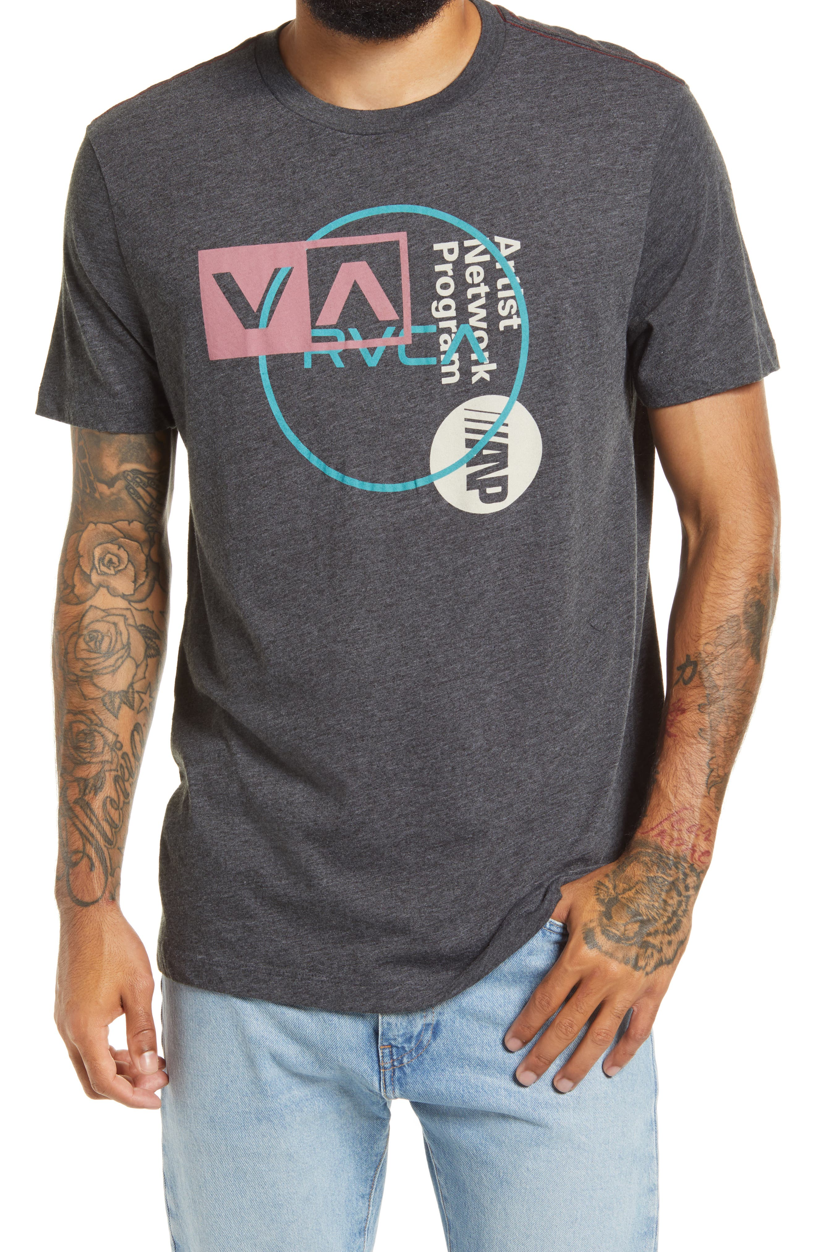 RVCA Boys Big MayDay Short Sleeve Crew Neck T-Shirt