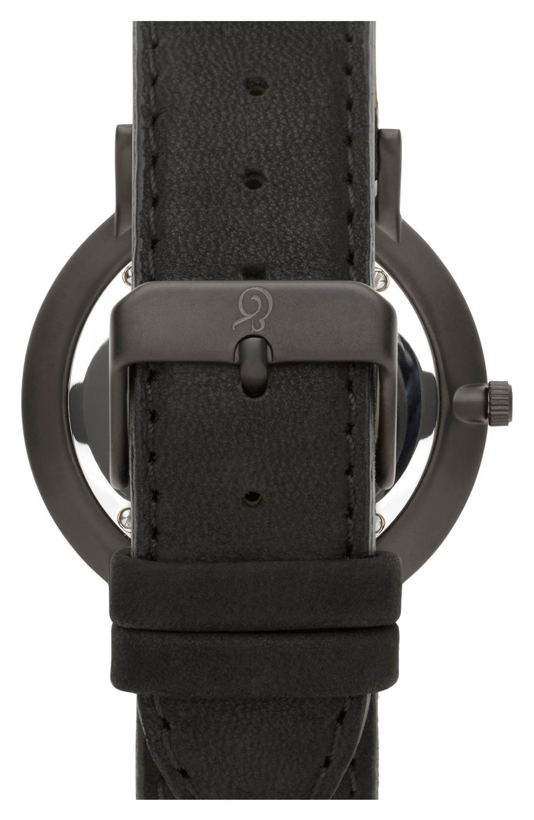 'Lugano' Leather Strap Watch, 40mm,                             Alternate thumbnail 2, color,                             Black