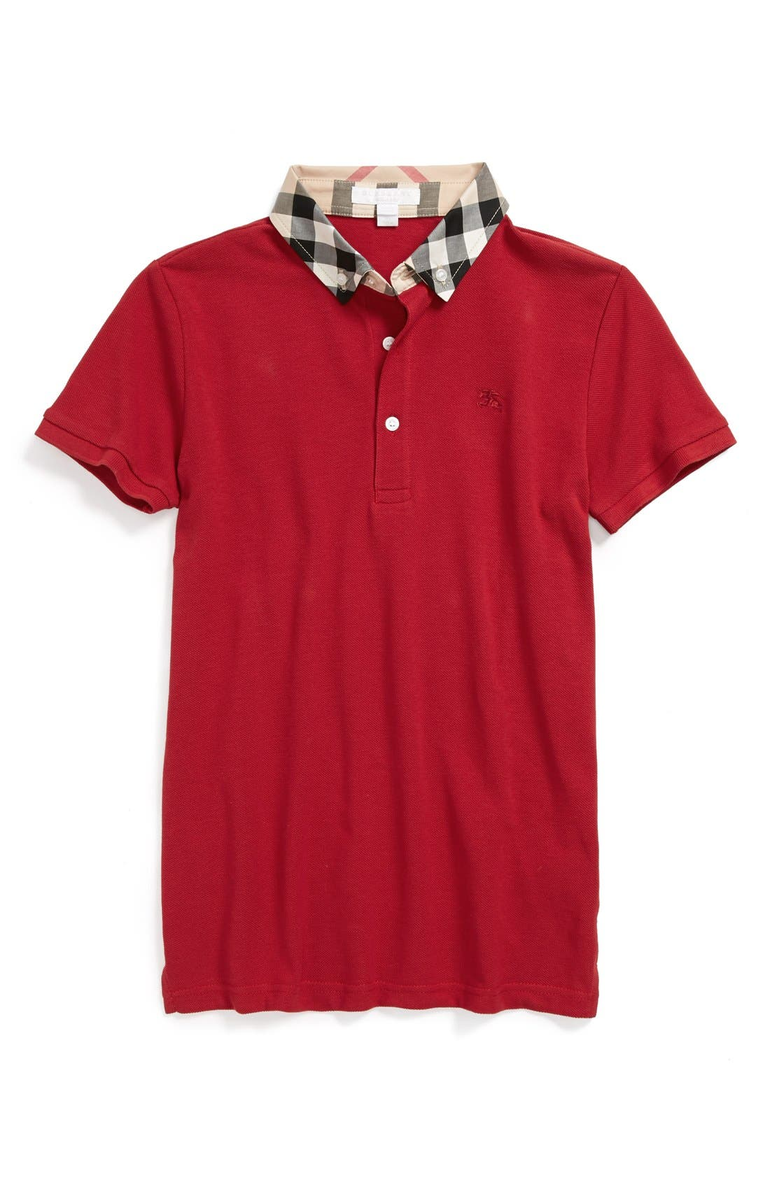 William Cotton Polo,                         Main,                         color, Military Red