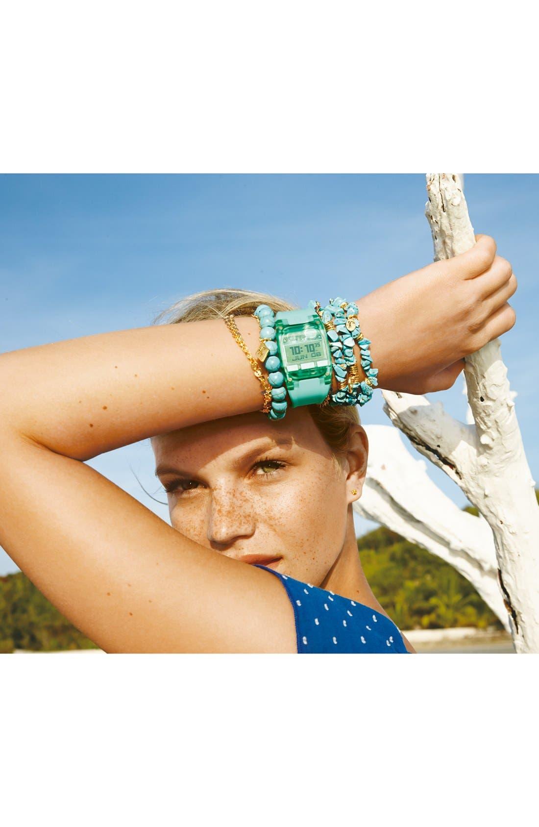 Alternate Image 2  - Sequin Stone Stretch Bracelets (Set of 3)
