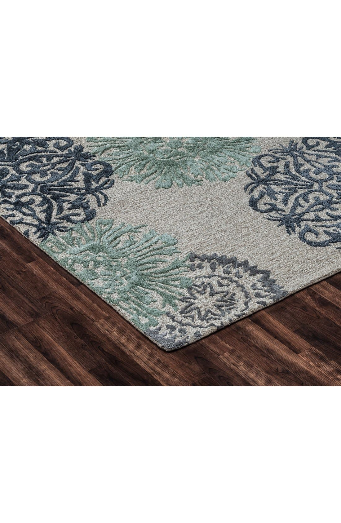 'Eden Harbor' Hand Tufted Wool Area Rug,                             Alternate thumbnail 7, color,                             Navy/ Aqua/ Grey