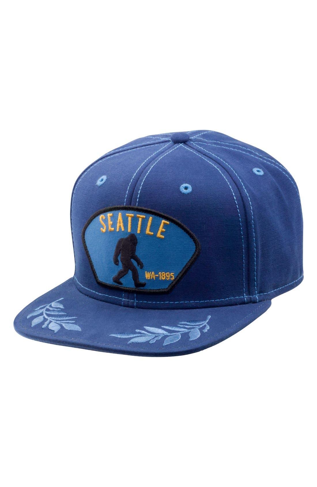 'Bigfoot' Snapback Cap,                             Main thumbnail 1, color,                             Blue