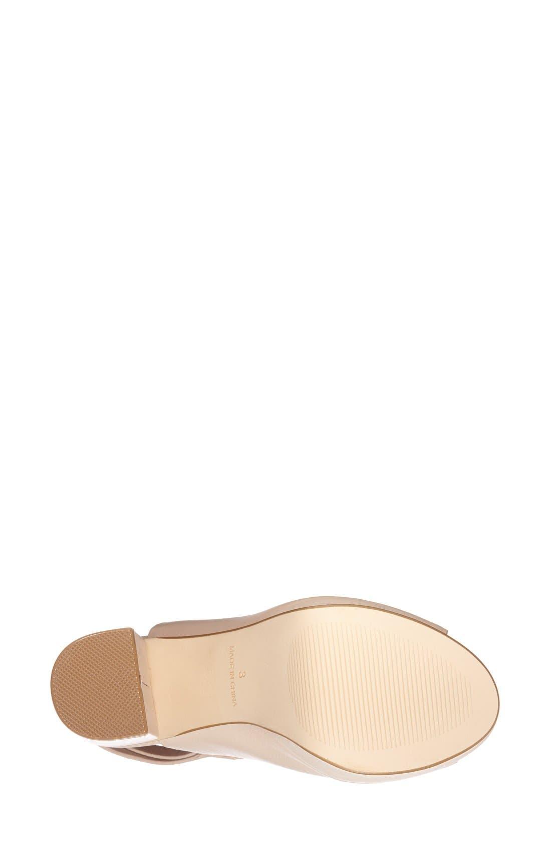 Alternate Image 3  - Topshop 'Sagittarius' Leather Ankle Strap Open Toe Platform Sandal (Women)