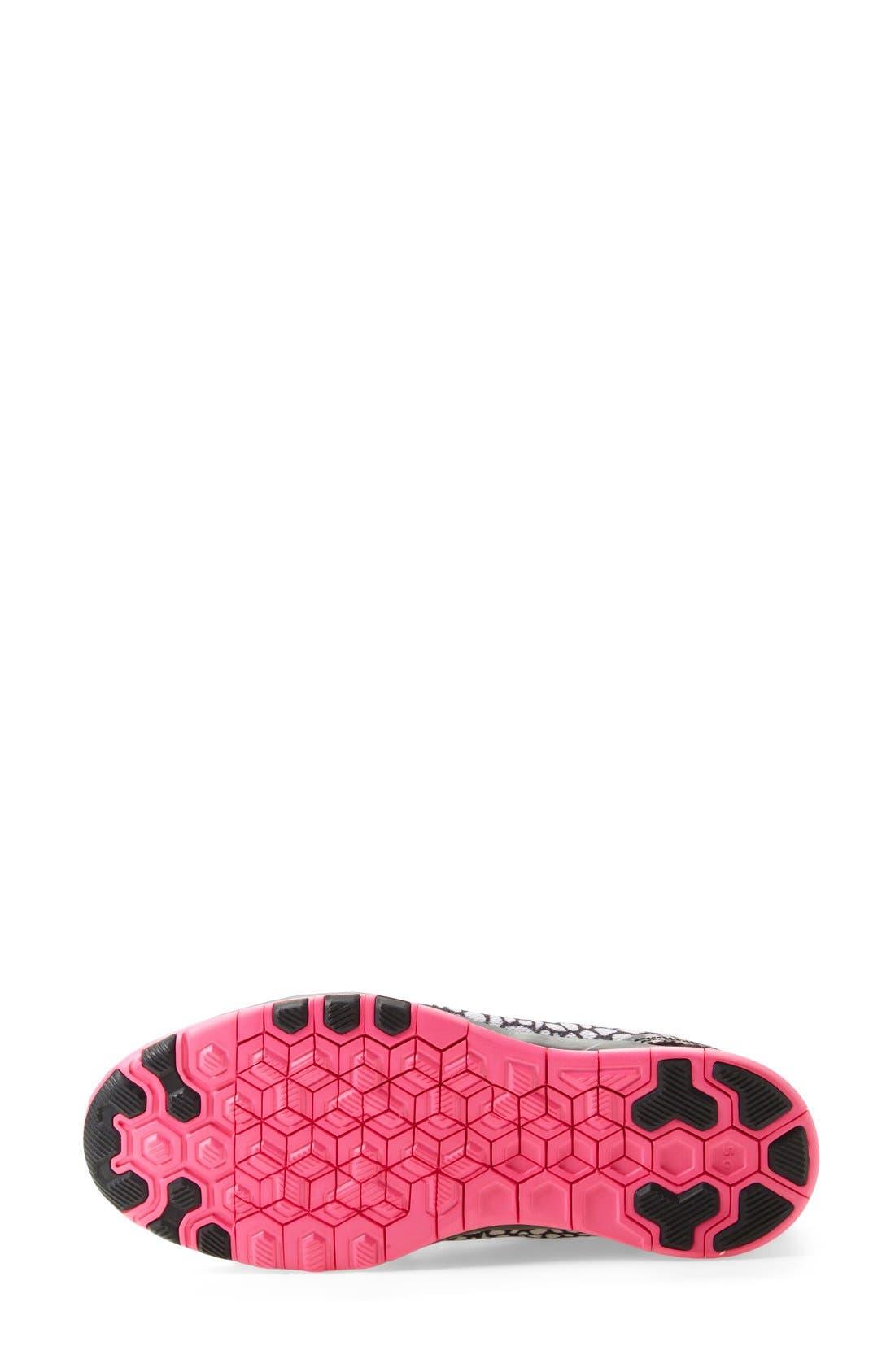 Alternate Image 4  - Nike 'Free 5.0 TR Fit 5 Print' Training Shoe (Women)