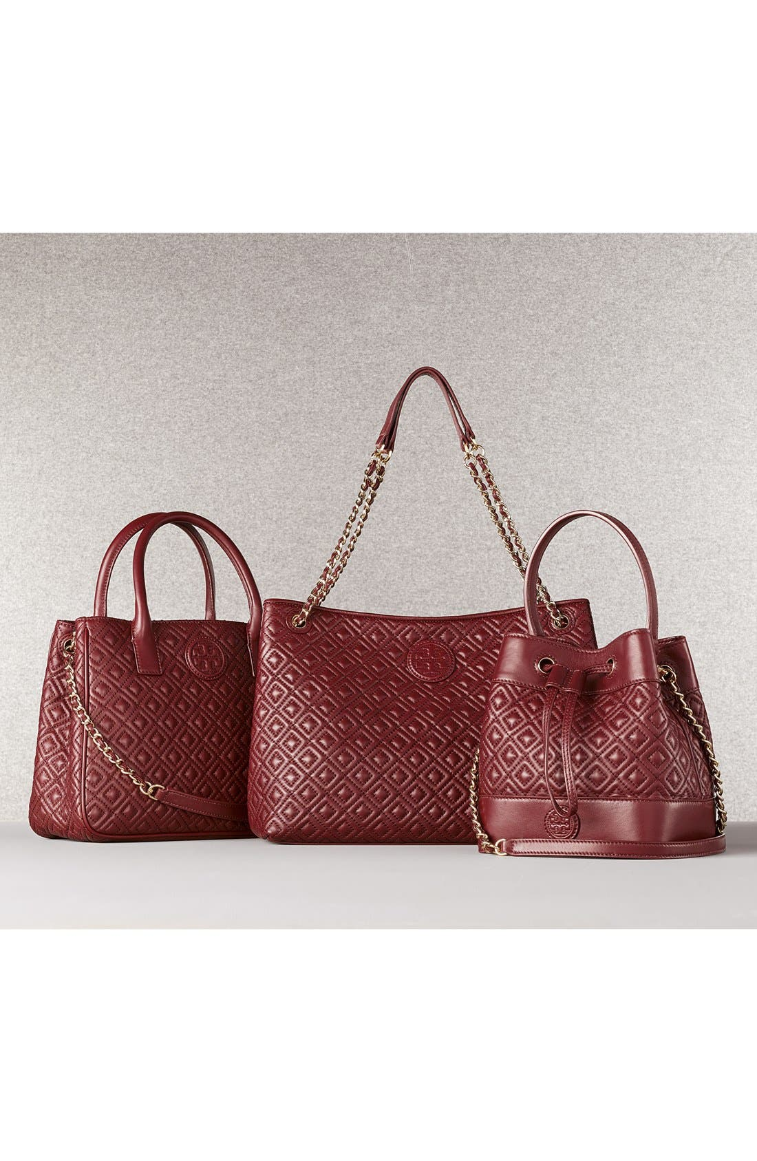 Marion Quilted Lambskin Tote,                             Alternate thumbnail 8, color,