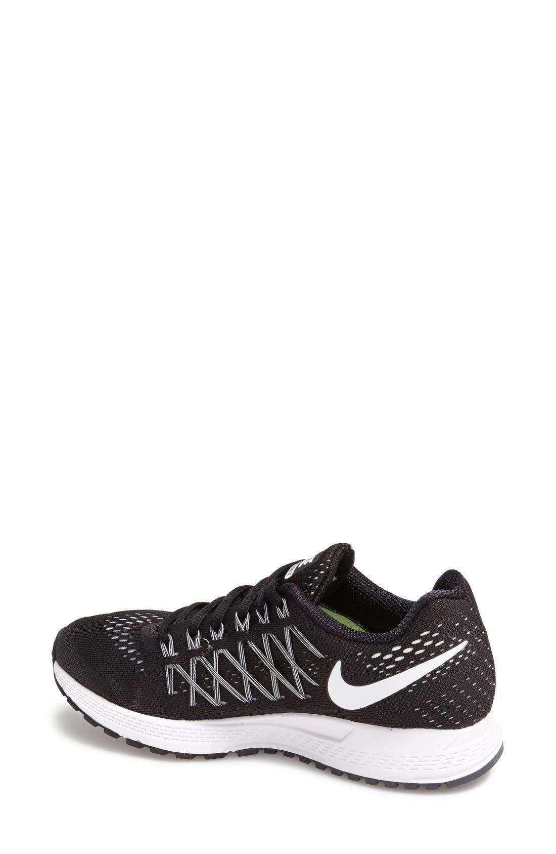 'Zoom Pegasus 32' Running Shoe,                             Alternate thumbnail 2, color,                             Black/ White/ Pure Platinum
