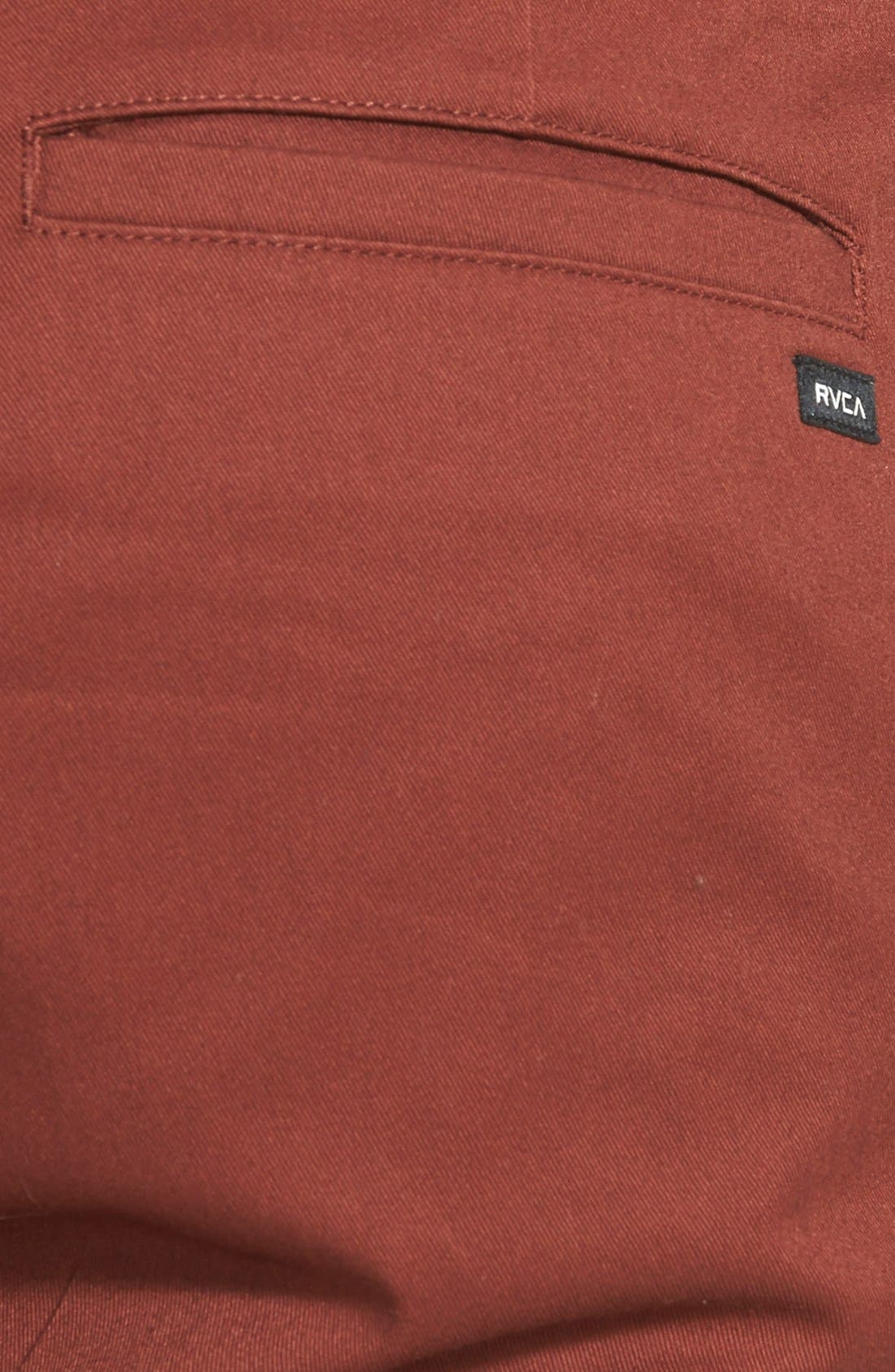 'The Week-End' Slim Straight Leg Stretch Twill Chinos,                             Alternate thumbnail 3, color,                             Red Earth