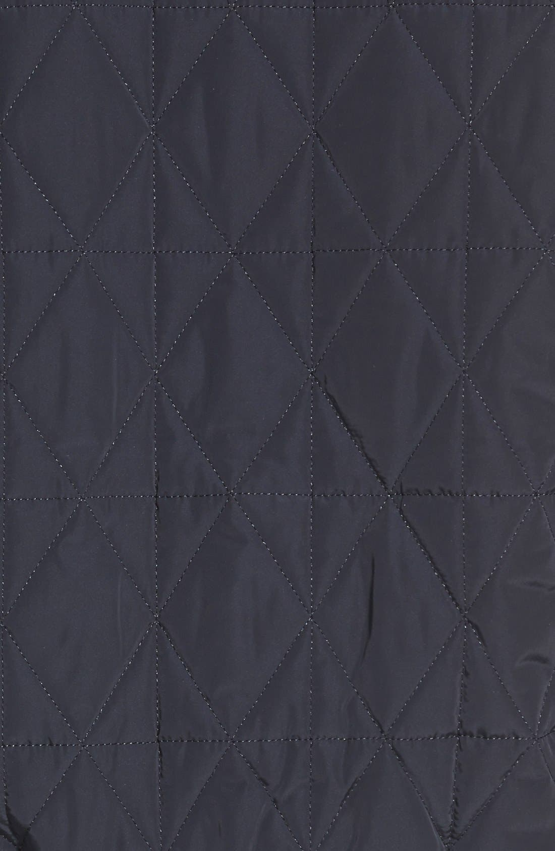 Diamond Quilted Zip Front Jacket,                             Alternate thumbnail 3, color,                             Midnight Blue