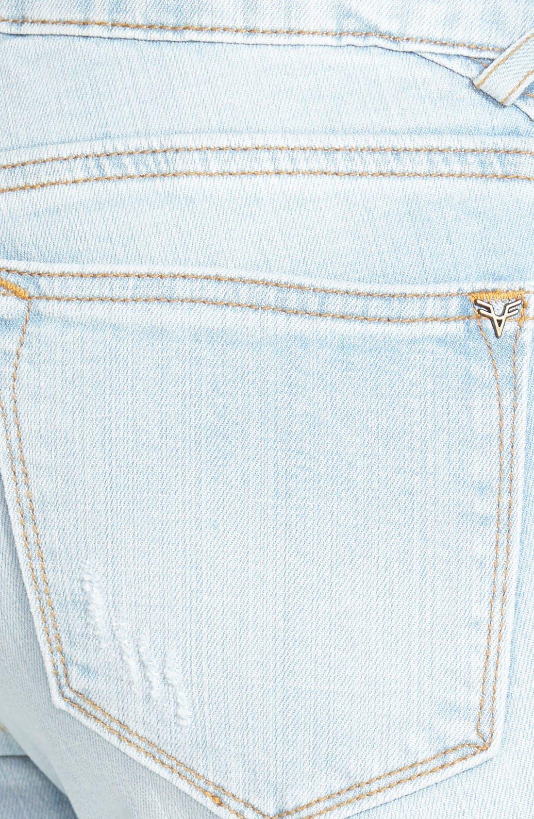 Alternate Image 3  - Vigoss Destroyed Skinny Jeans (Light Wash)