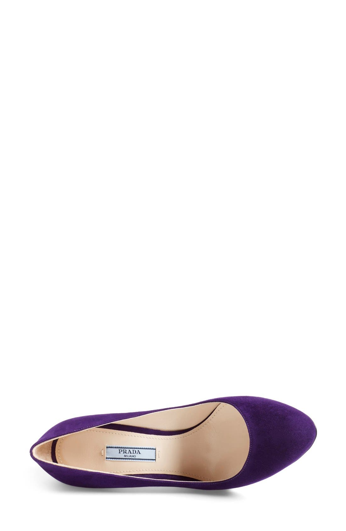 Alternate Image 3  - Prada Almond Toe Pump (Women)
