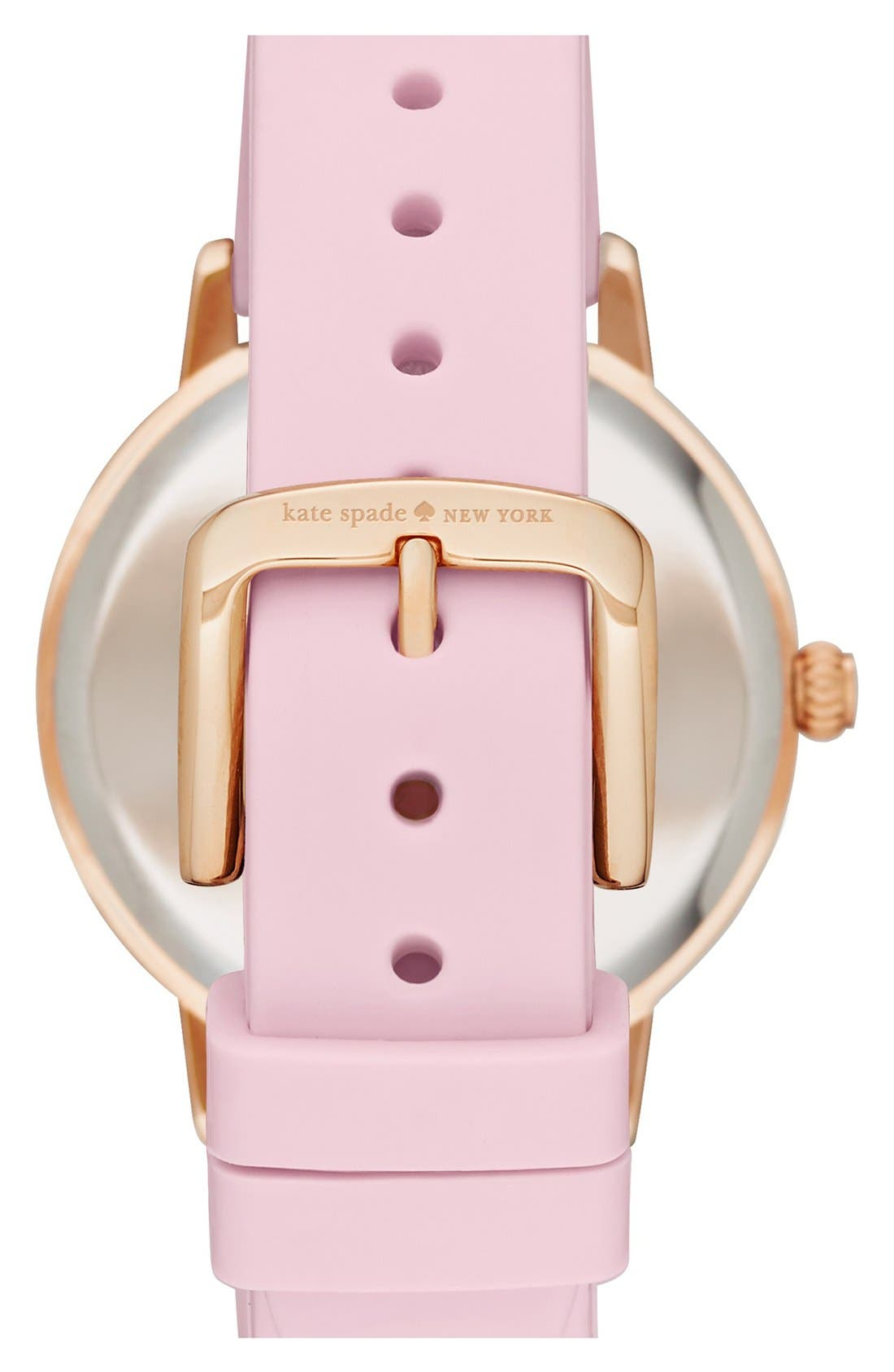 Alternate Image 2  - kate spade new york 'crosby' silicone strap watch, 34mm