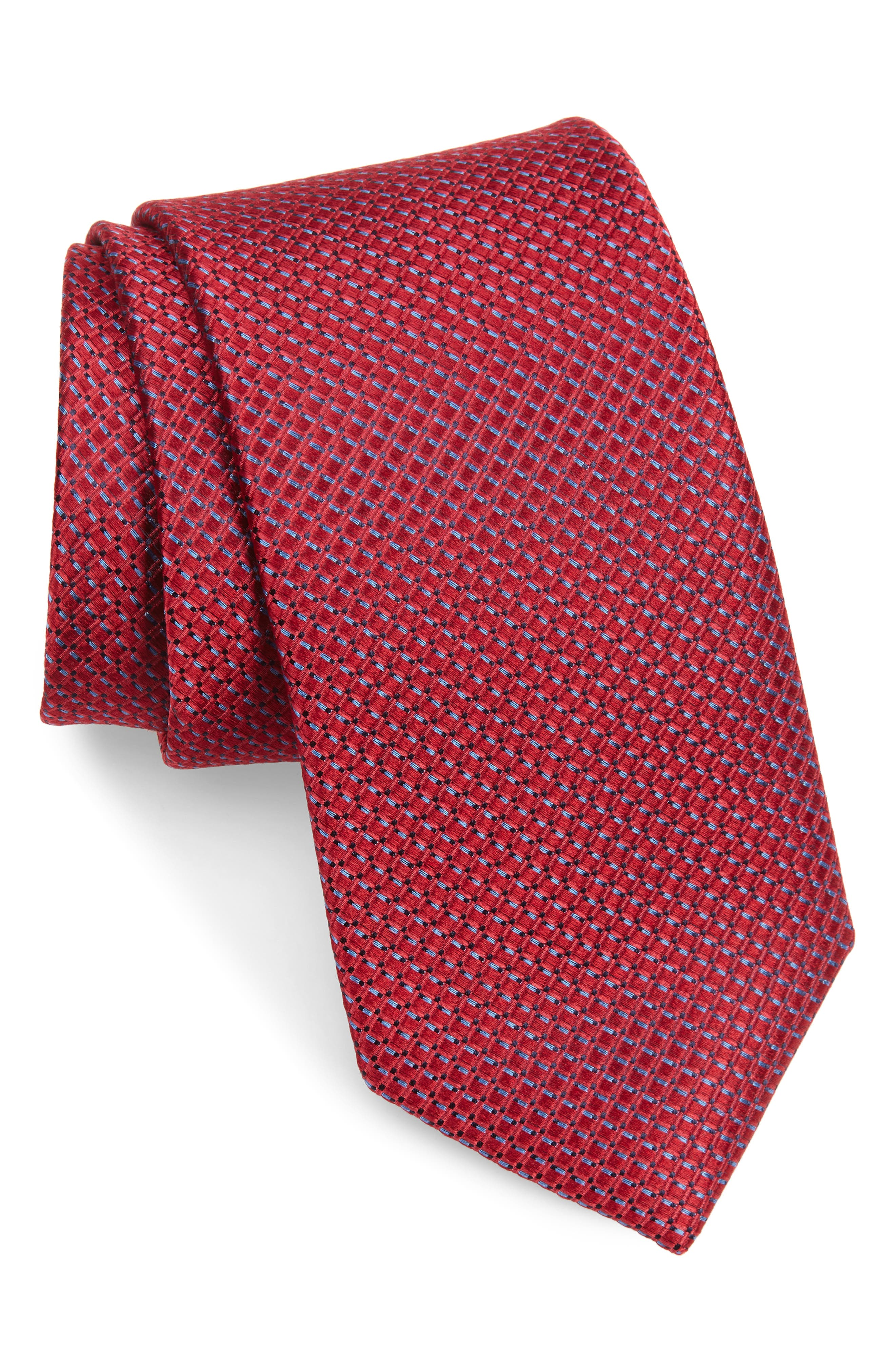 Red Vines Silk Tie and Pocket Square