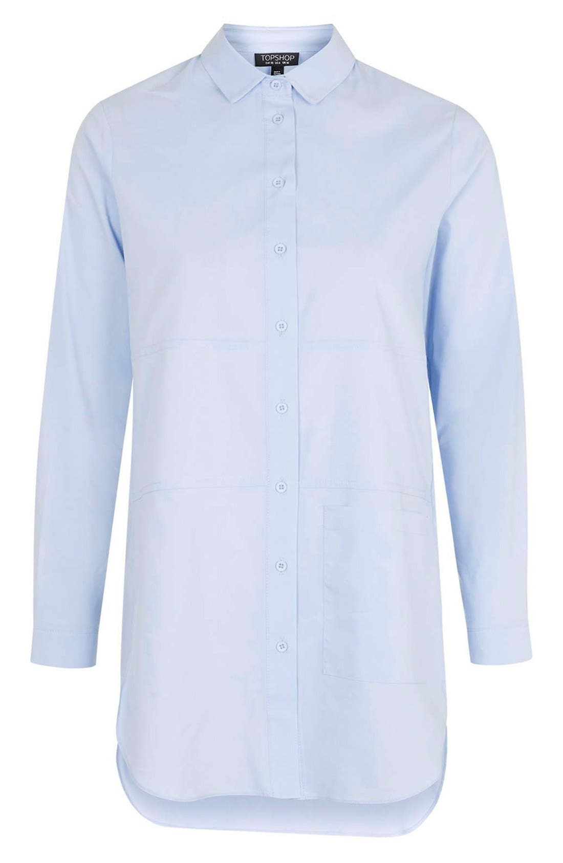 Alternate Image 3  - Topshop Oversize Button Front Shirt