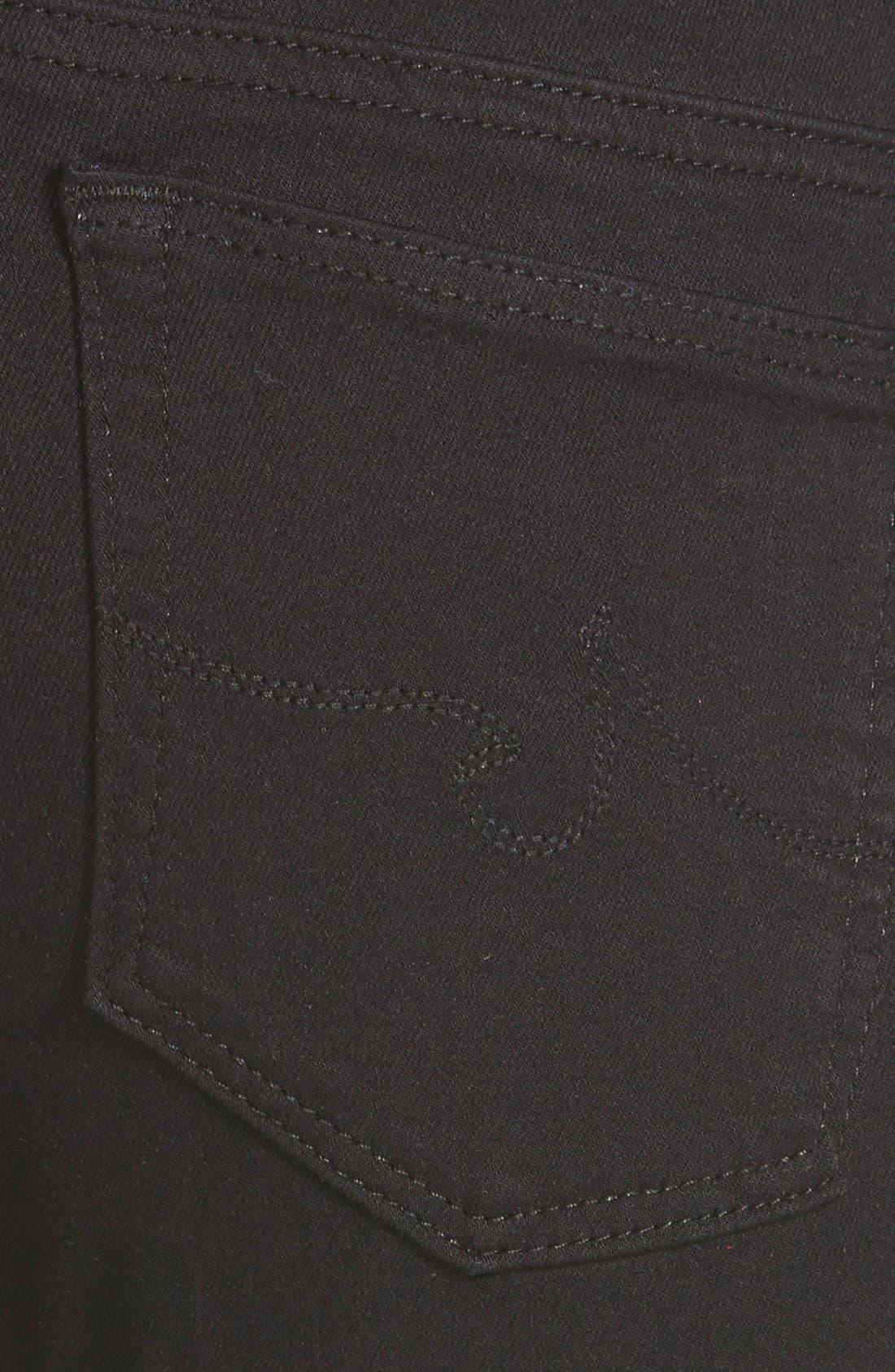 Alternate Image 3  - AG 'Stilt Cigarette' Skinny Jeans (Super Black)