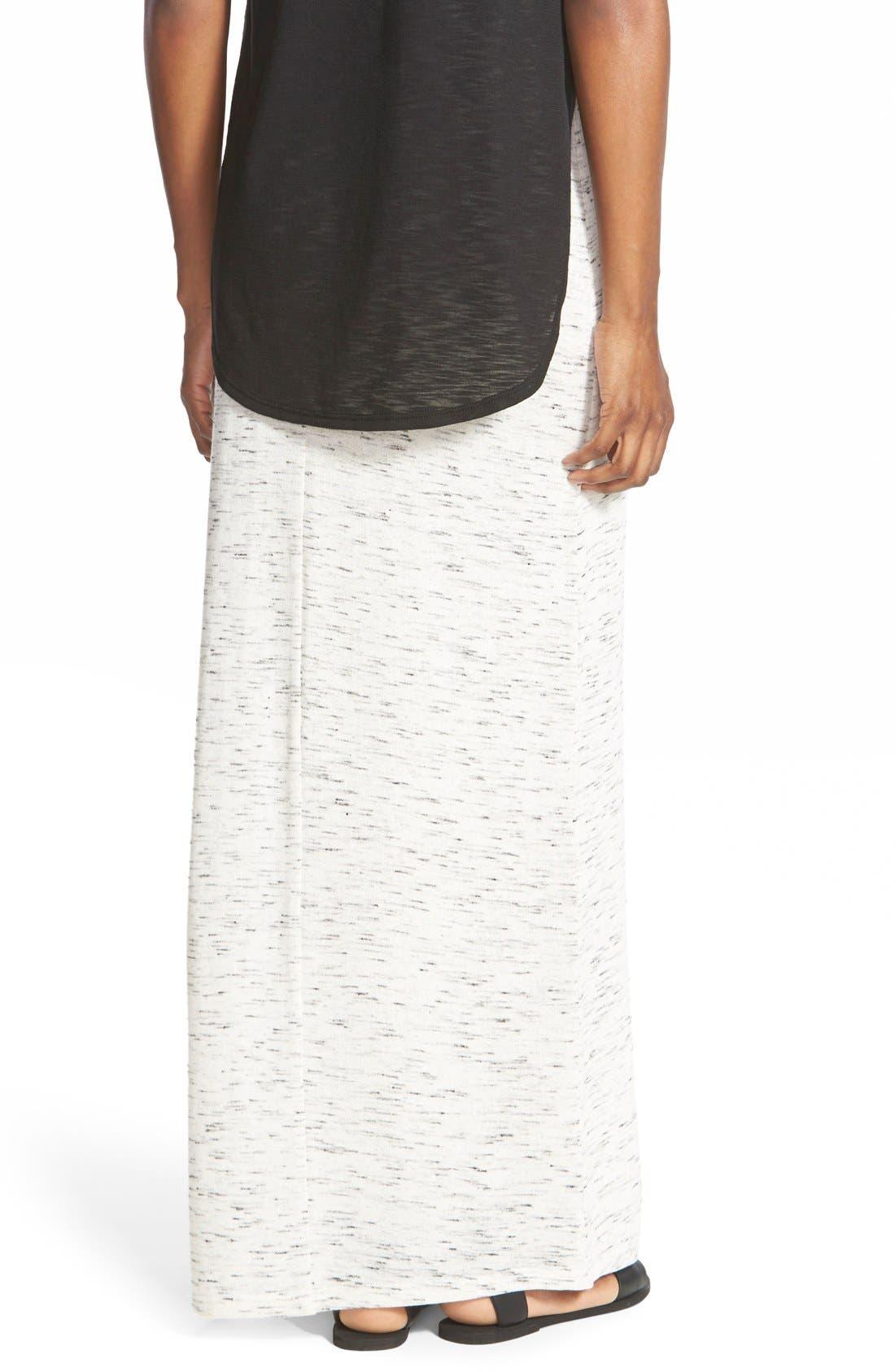 Alternate Image 2  - The Hanger Heathered Knit Maxi Skirt (Juniors)