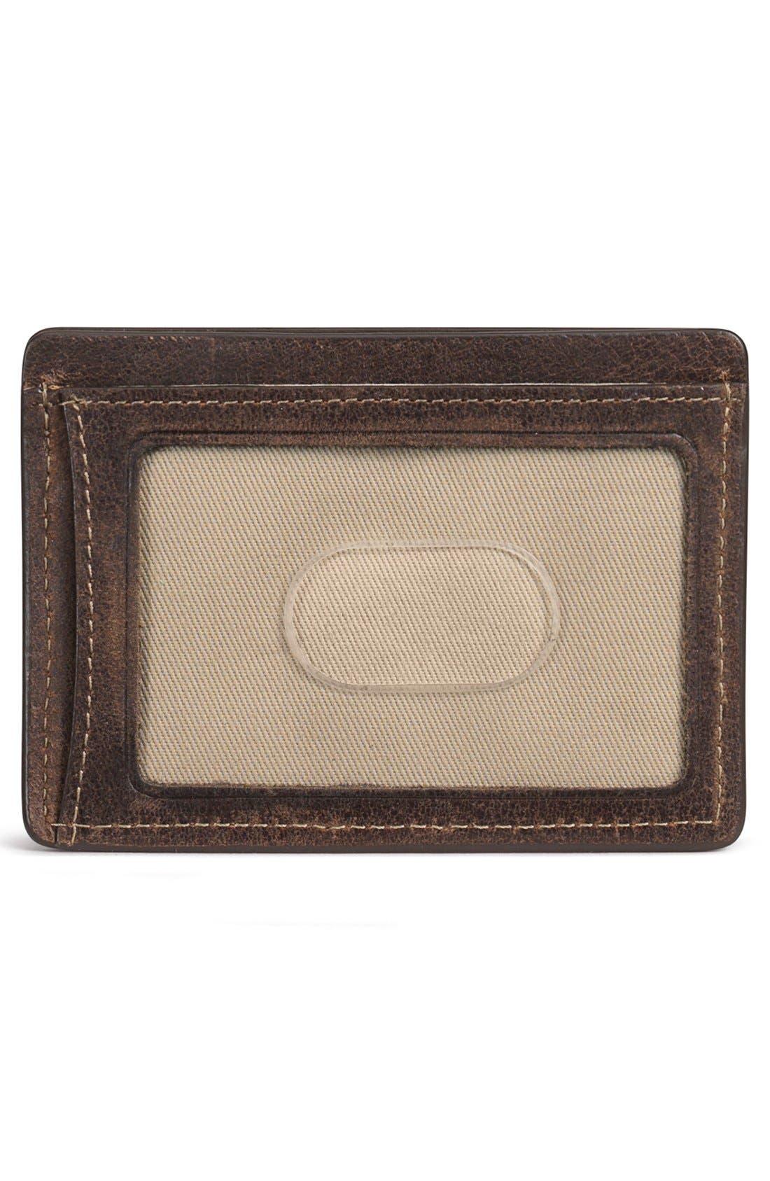 Alternate Image 2  - Trask 'Jackson' Bison Leather Card Case