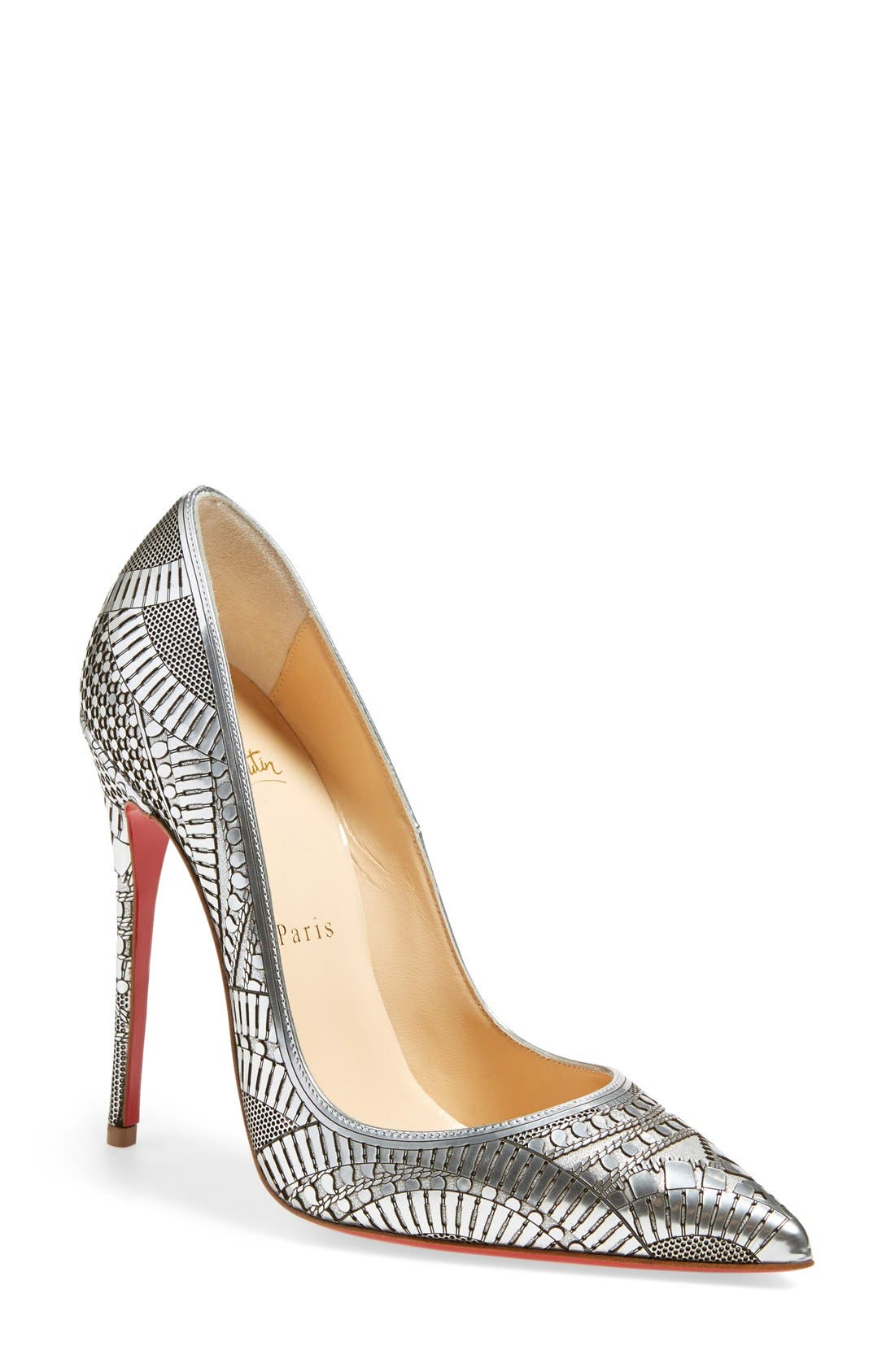 Alternate Image 1 Selected - Christian Louboutin 'Kristali' Laser Cut Pointy Toe Pump