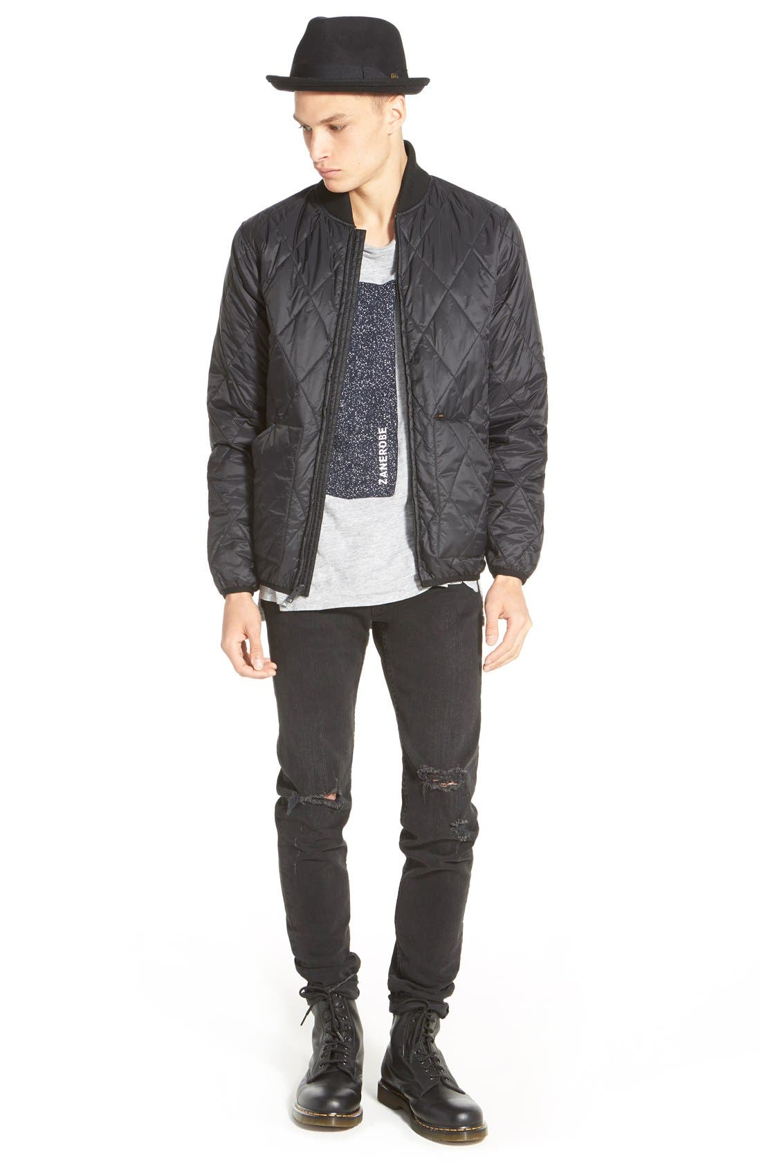 Alternate Image 5  - rag & bone Standard Issue 'Fit 1' Skinny Fit Jeans (Rock with Holes)