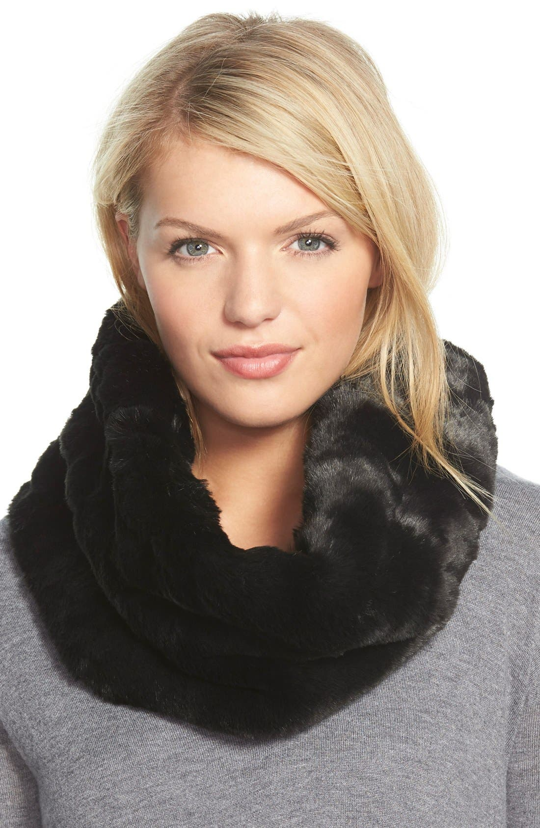 Main Image - Badgley Mischka Faux Fur Infinity Scarf