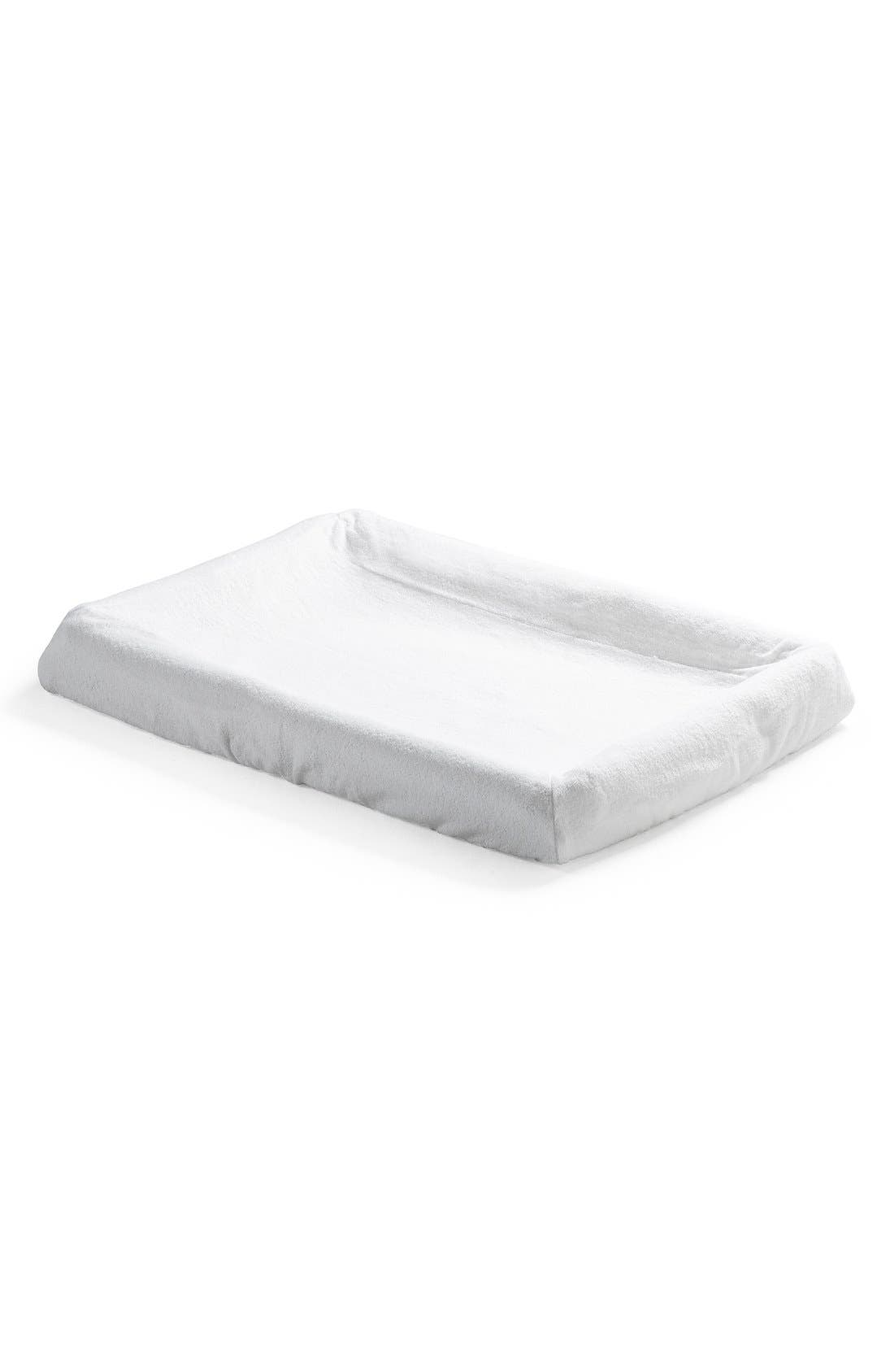 'Home<sup>™</sup>' Changer Mattress Cover,                             Main thumbnail 1, color,                             White