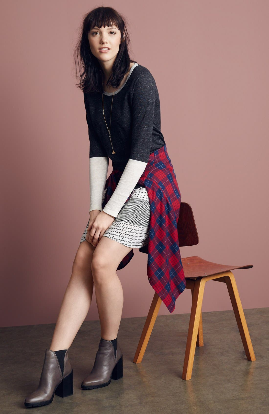 Alternate Image 6  - Madewell 'Edina Plaid' Oversize Boyshirt
