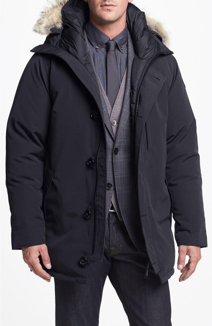 Canada Goose 'Chateau' Slim Fit Genuine Coyote Fur Trim Jacket ...
