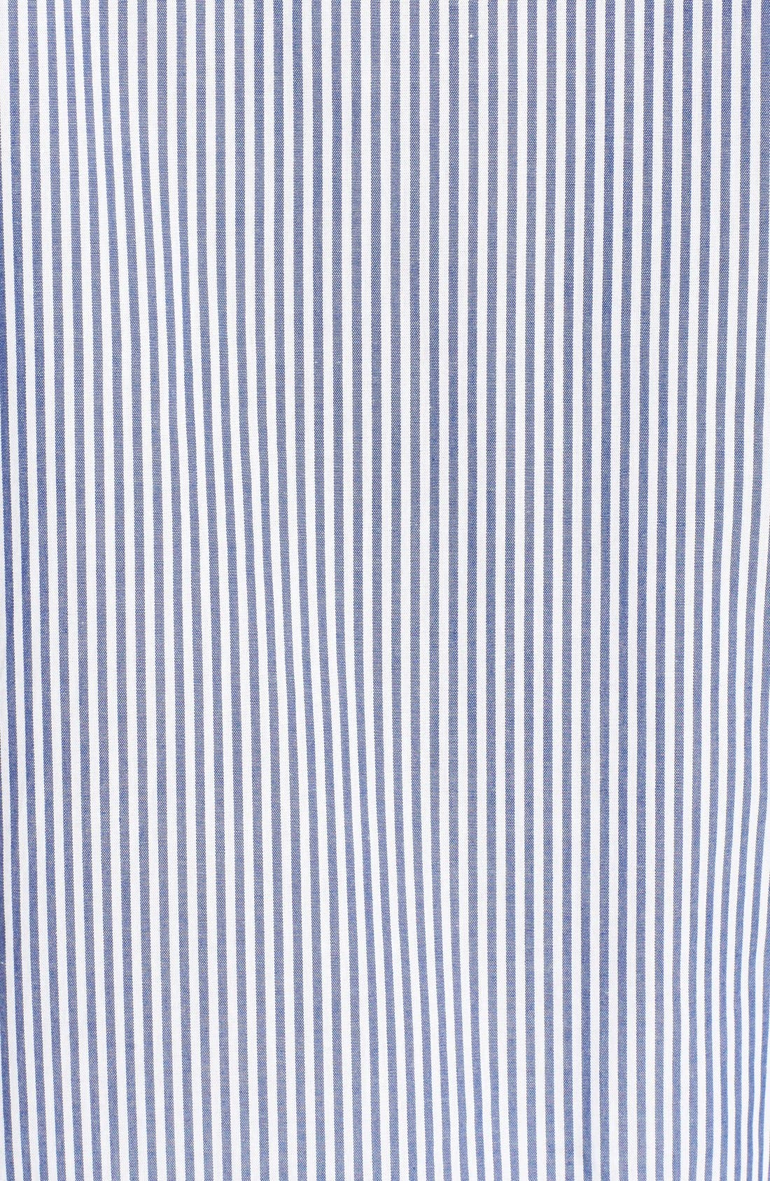 Stripe Cotton Pajamas,                             Alternate thumbnail 3, color,                             Navy