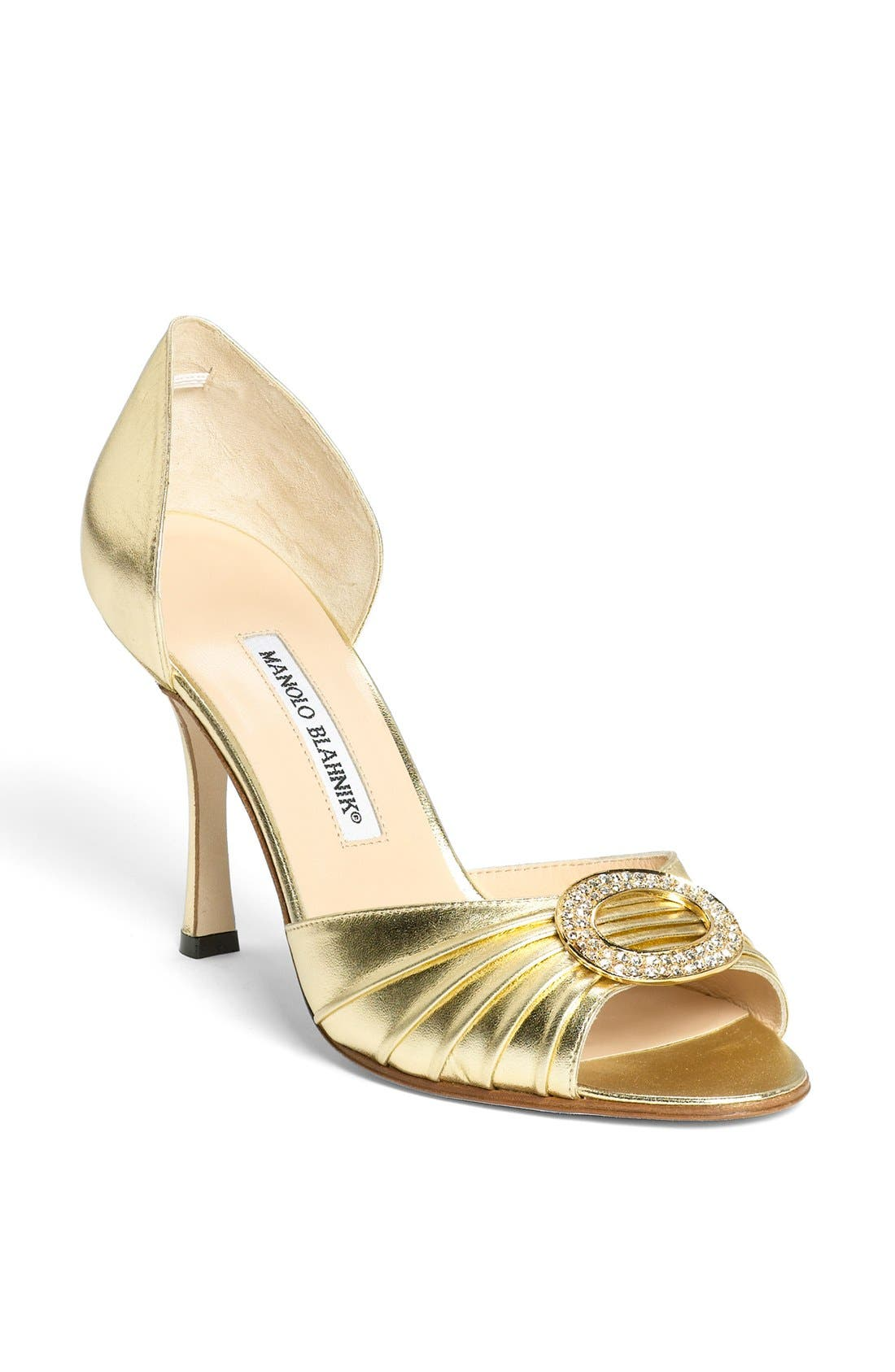 Alternate Image 1 Selected - Manolo Blahnik 'Sedaraby' Open Toe d'Orsay Pump (Women)