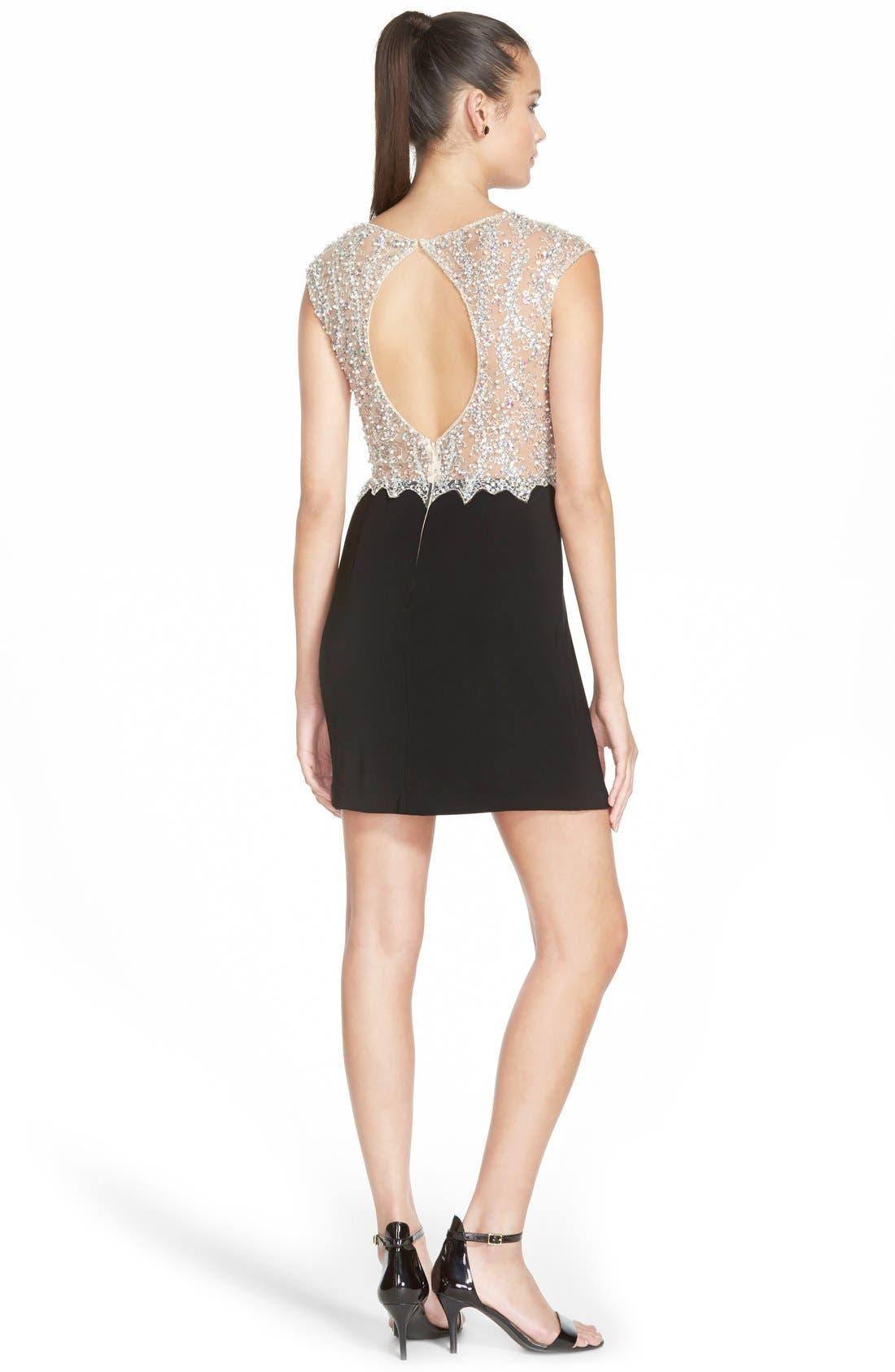 Alternate Image 2  - Sean Collection Embellished Mesh & Jersey Minidress