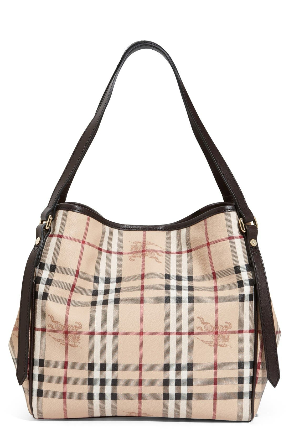 Main Image - Burberry 'Haymarket Check - Small' Shoulder Tote