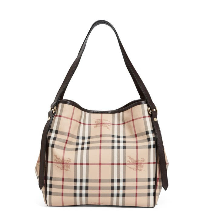 be49928b8c96 Burberry Haymarket Nova Check Small Hangbag In Great Condition Brown