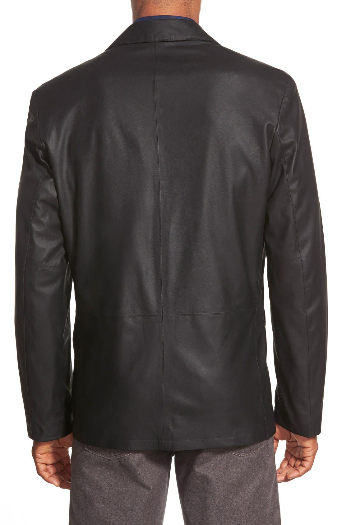Alternate Image 2  - Remy Leather 'Lite' Button Blazer