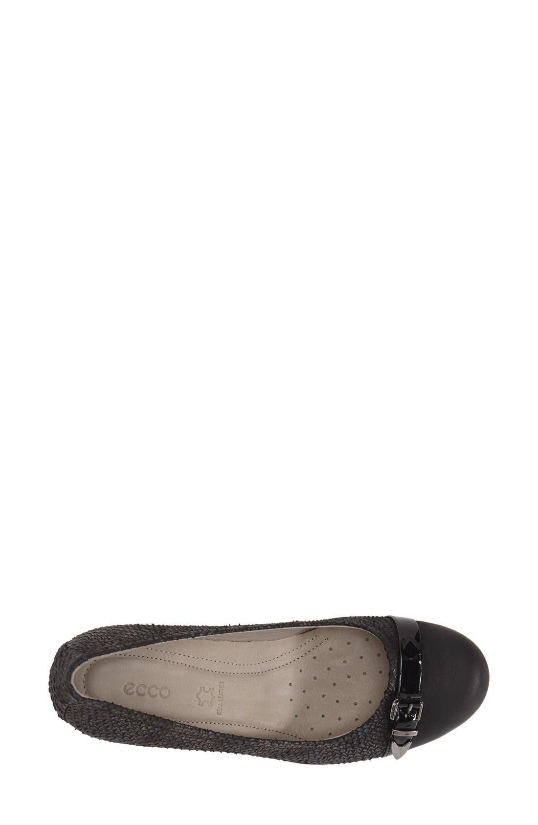 'Touch 50' Buckle Pump,                             Alternate thumbnail 3, color,                             Black Leather