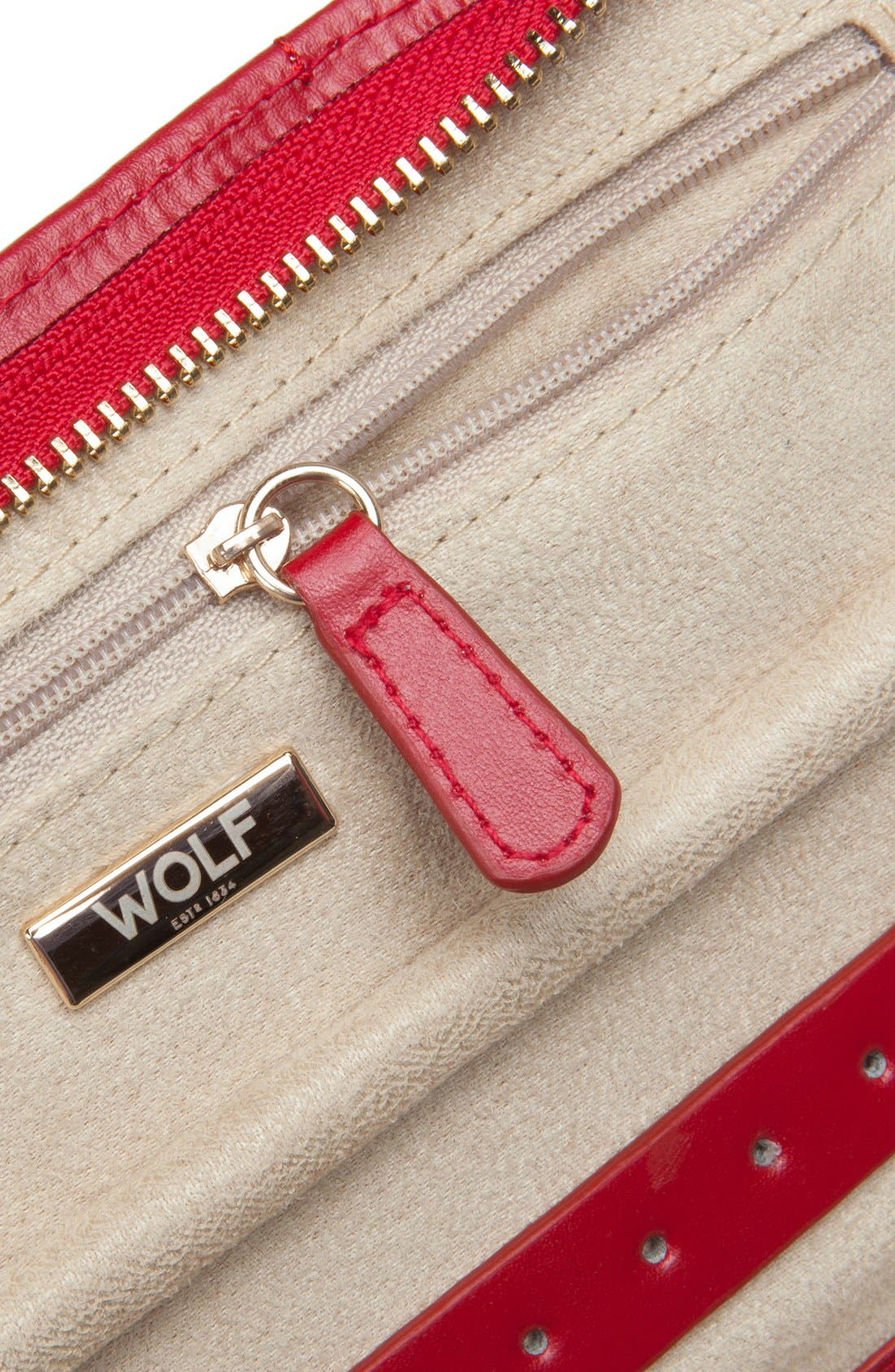 Alternate Image 3  - Wolf Caroline Quilted Jewelry Portfolio