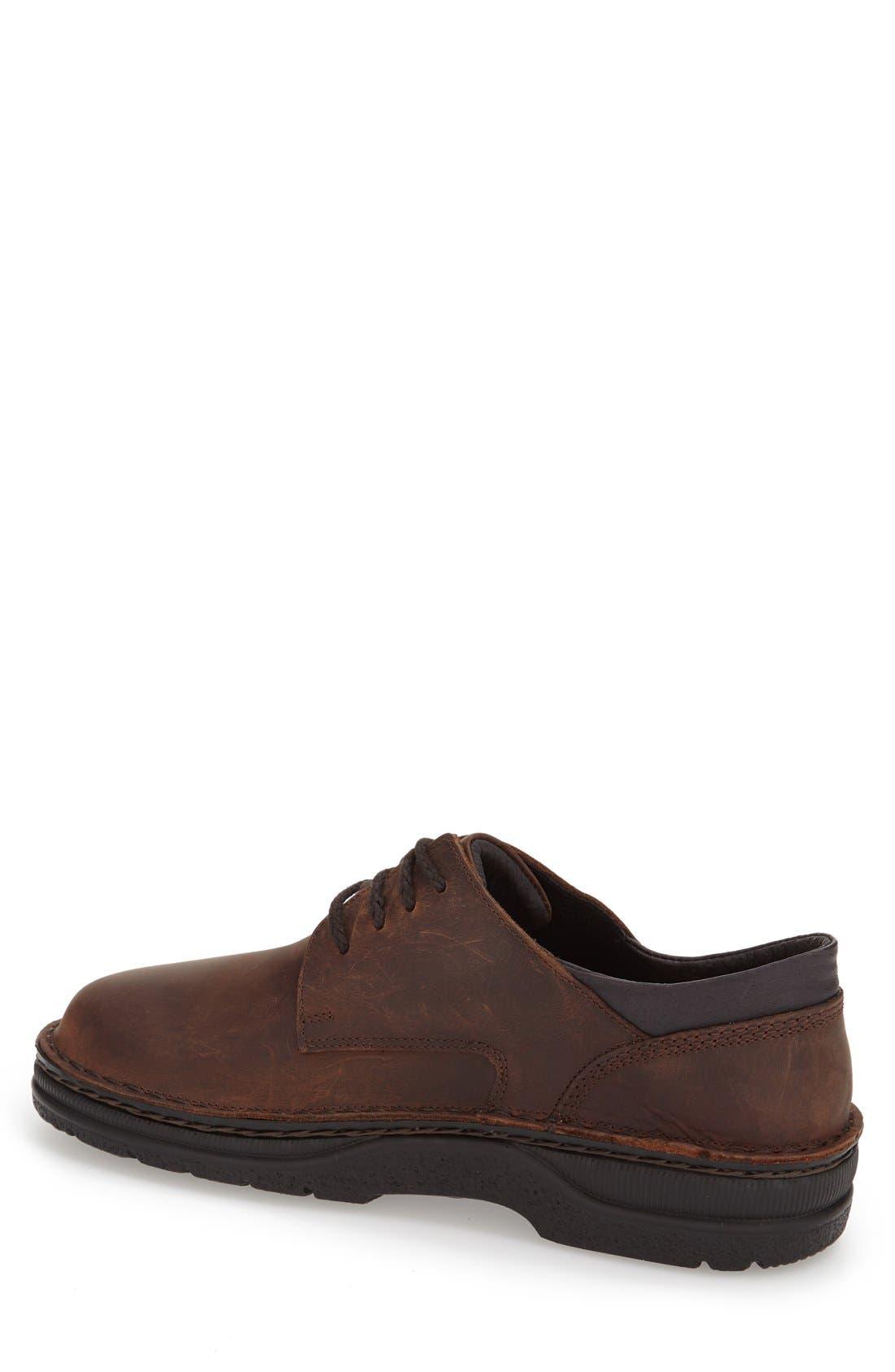 Denali Plain Toe Derby,                             Alternate thumbnail 2, color,                             Brown Leather