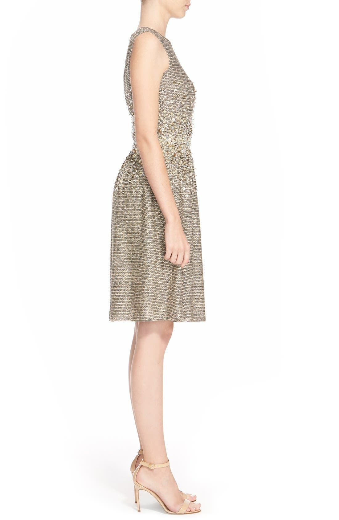 Alternate Image 5  - St. John Collection Hand Beaded Bauble Knit Dress