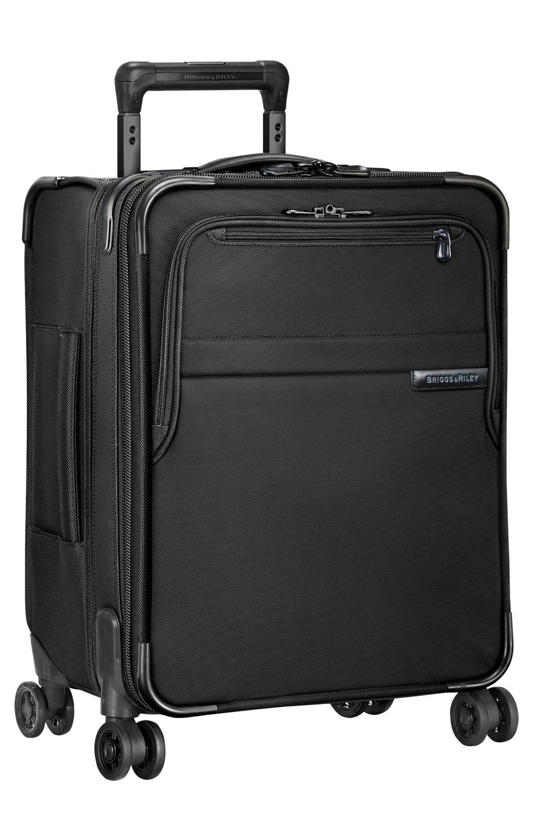 Baseline Wide Body Expandable 21-Inch Rolling Packing Case,                             Main thumbnail 1, color,                             Black