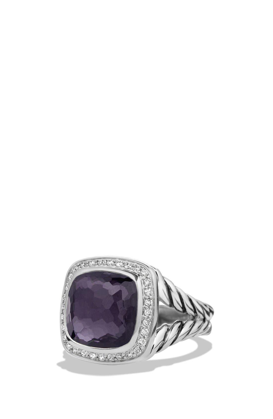 David Yurman'Albion' Ring with Semiprecious Stone and Diamonds