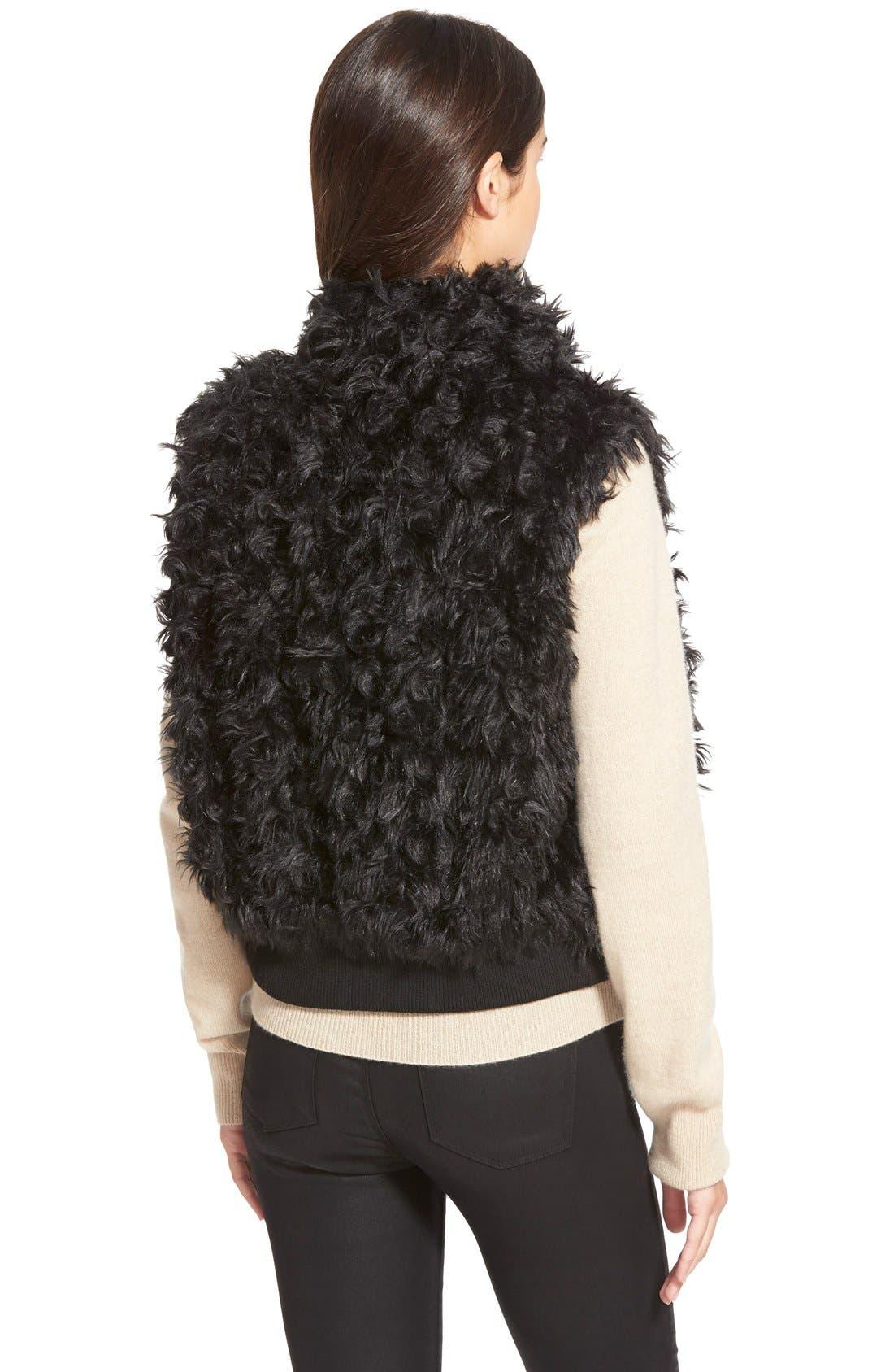 Alternate Image 2  - Dena Products Faux Chinchilla Vest